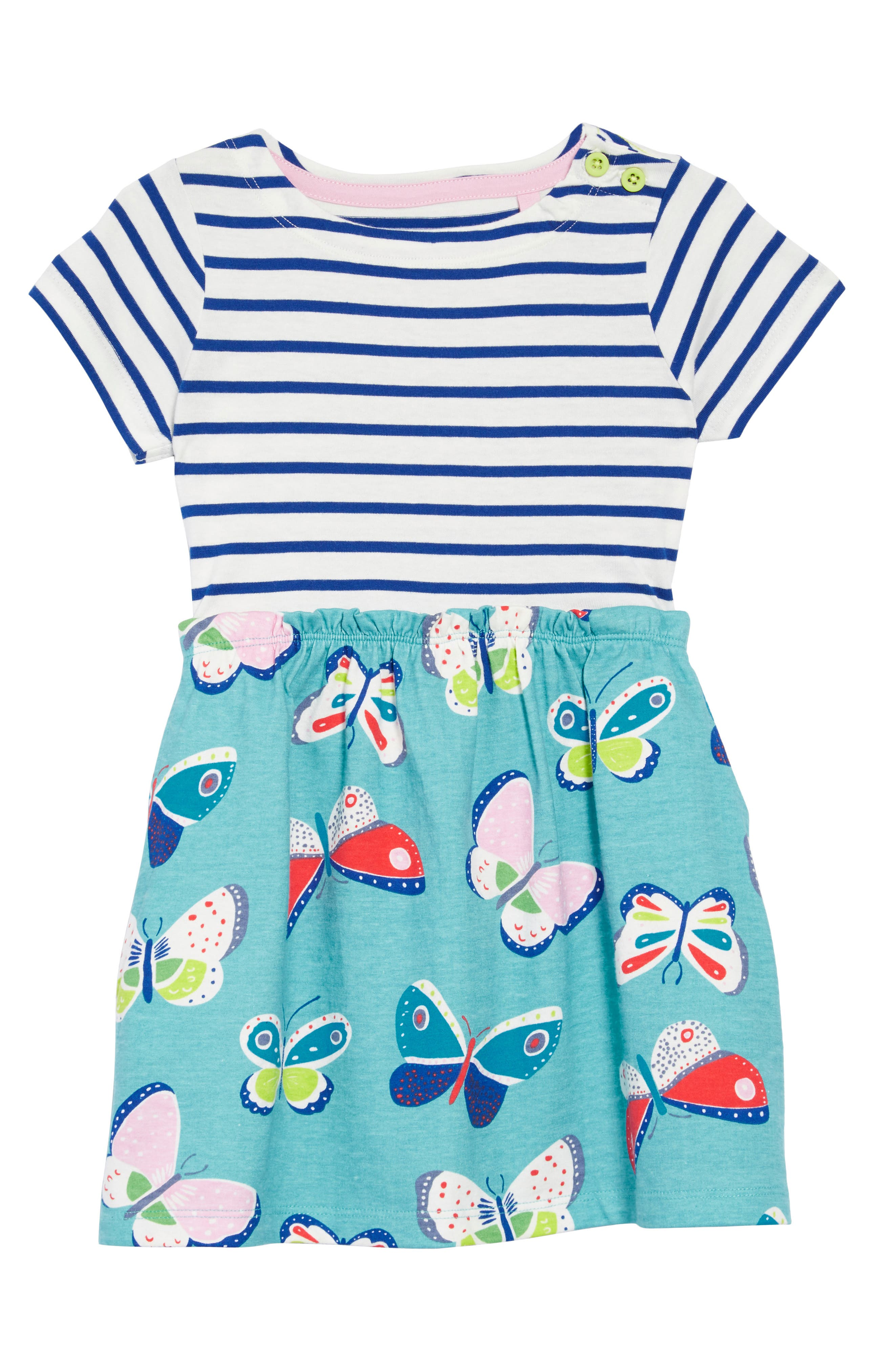 Bright Hotchpotch Jersey Dress,                         Main,                         color, Ivory/ Orion Blue