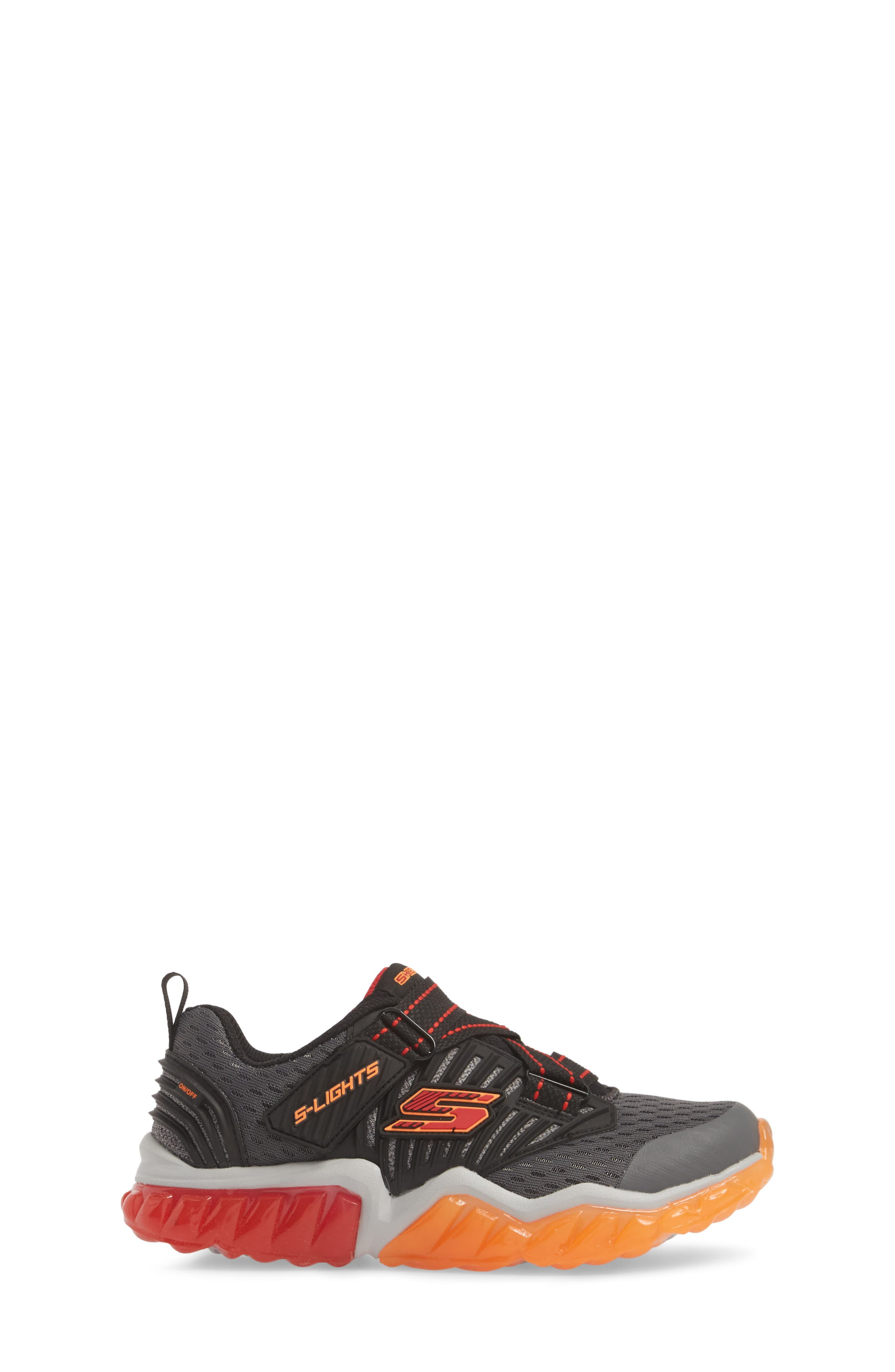 Rapid Flash Light-Up Sneaker,                             Alternate thumbnail 3, color,                             Charcoal/ Red