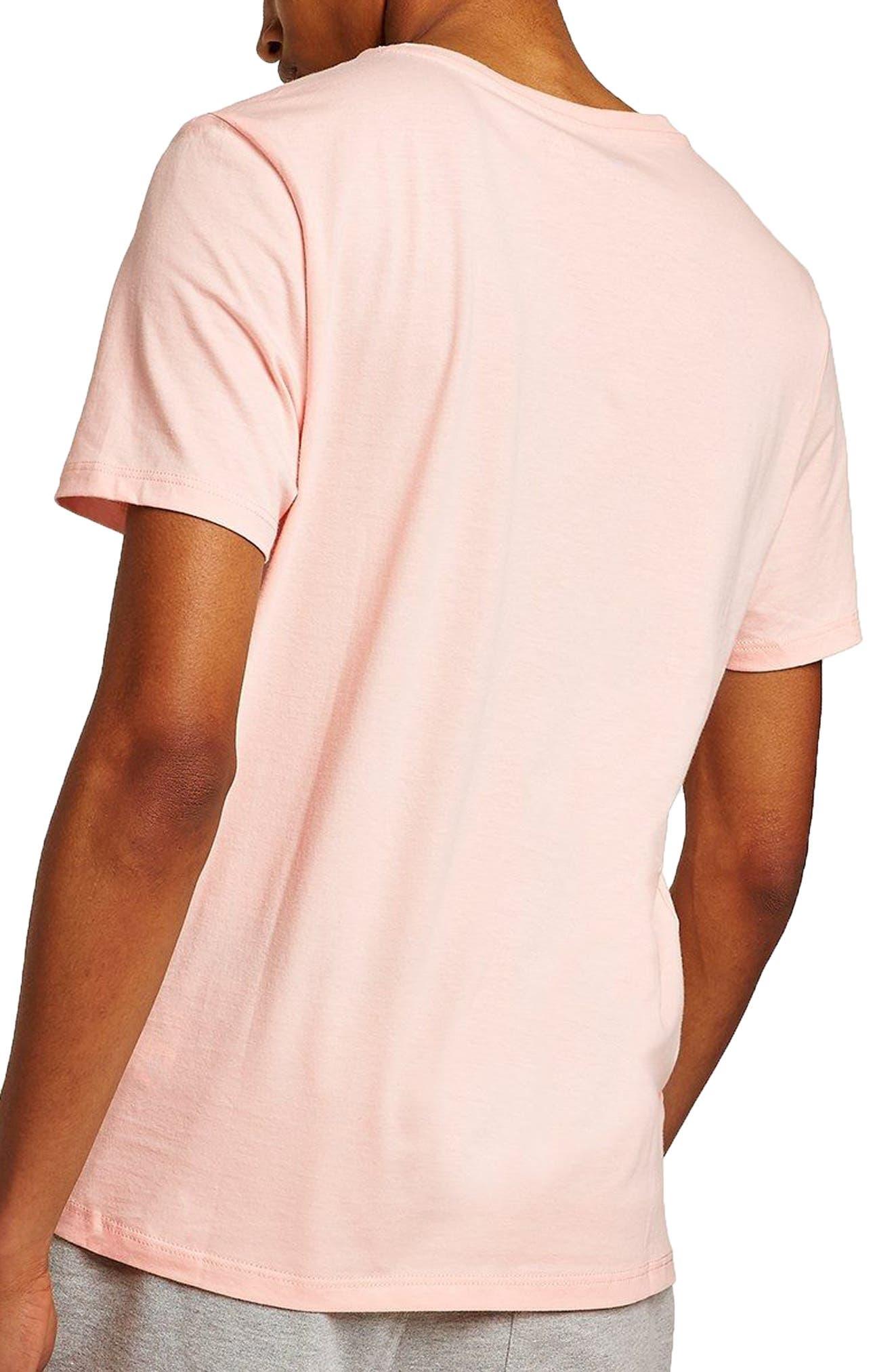 V-Neck T-Shirt,                             Alternate thumbnail 2, color,                             Salmon