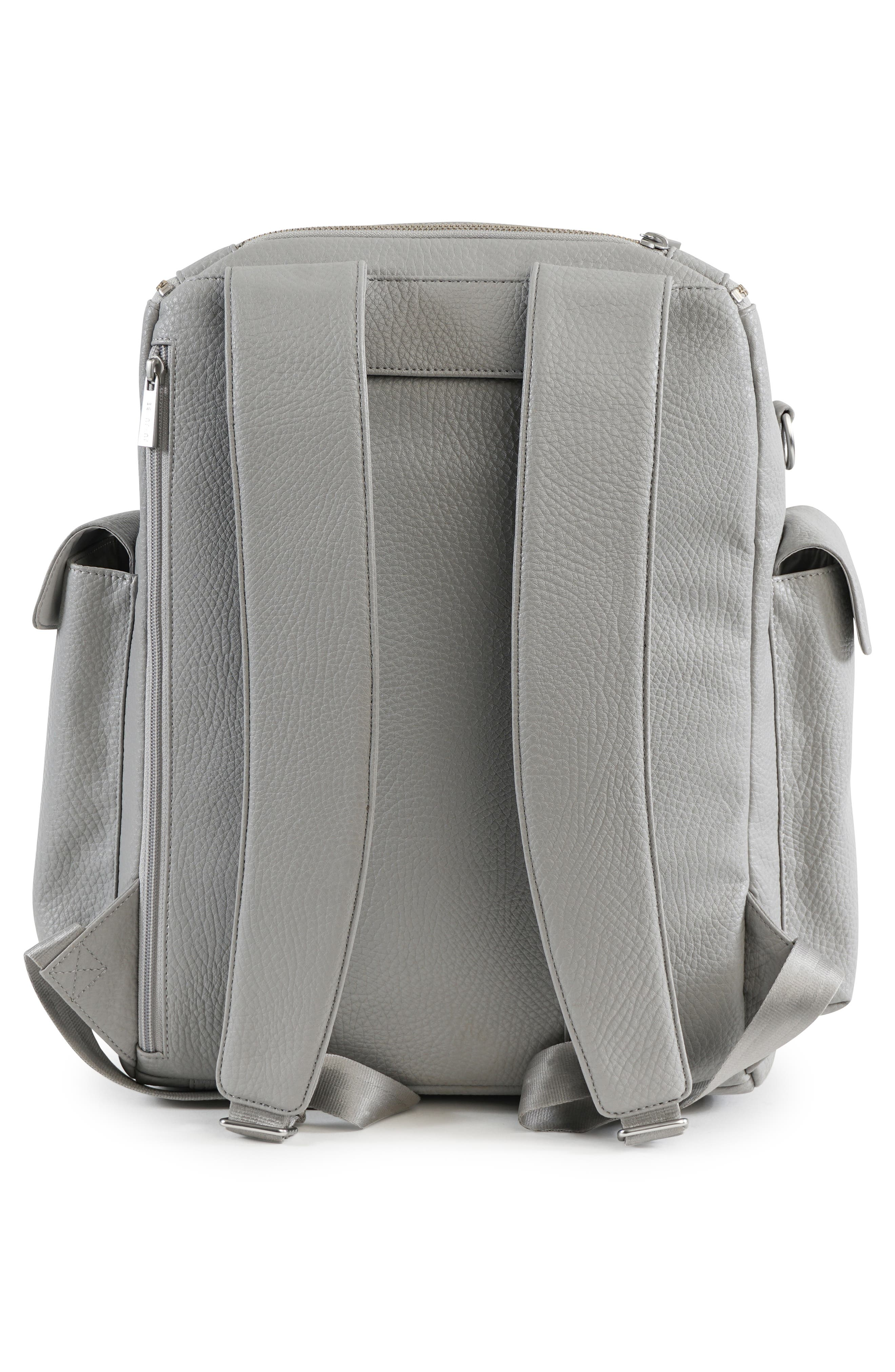 Ever Collection Forever Faux Leather Diaper Backpack,                             Alternate thumbnail 2, color,                             Stone