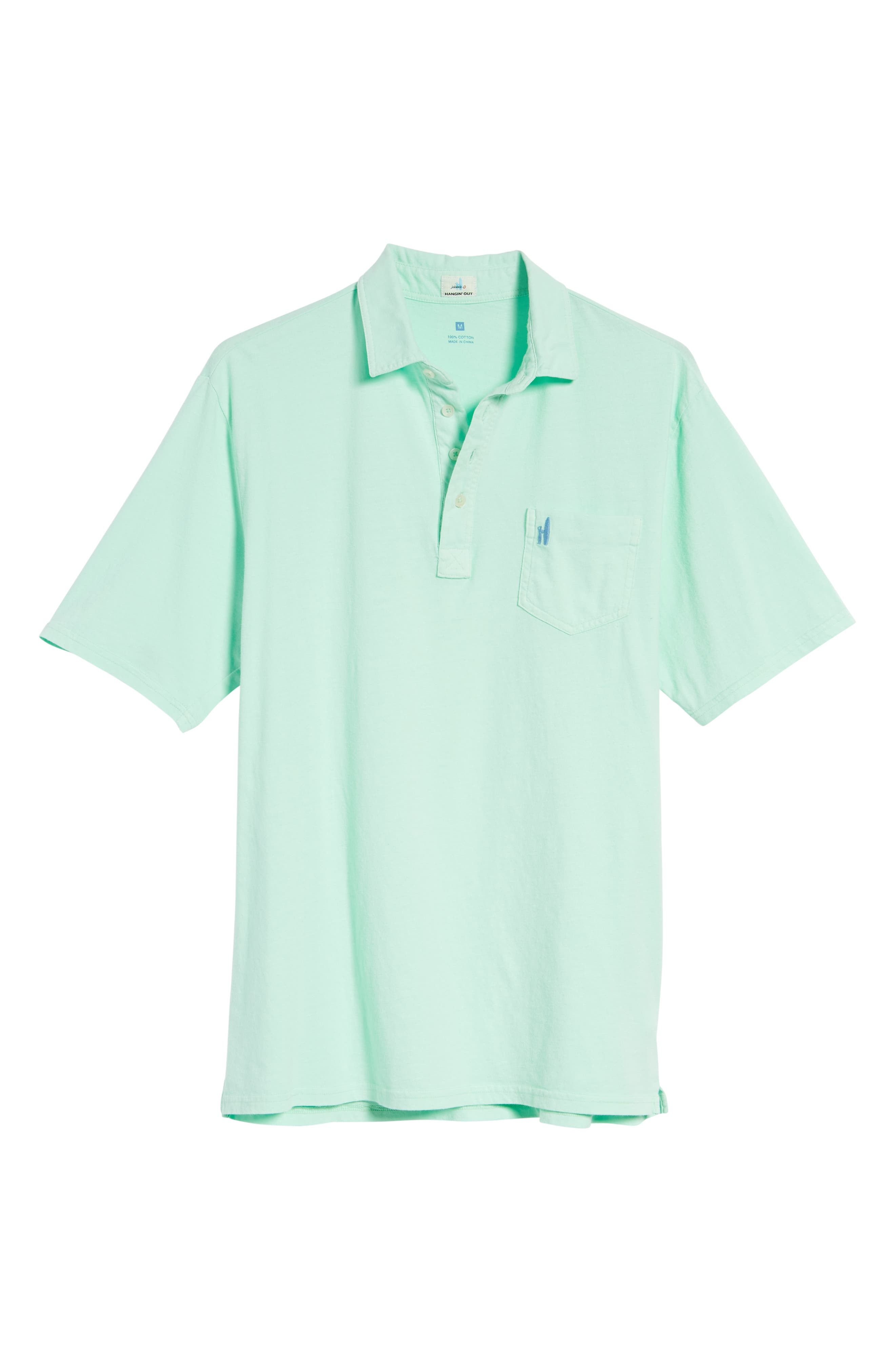 Original Regular Fit Garment Dyed Polo,                             Alternate thumbnail 6, color,                             Fern
