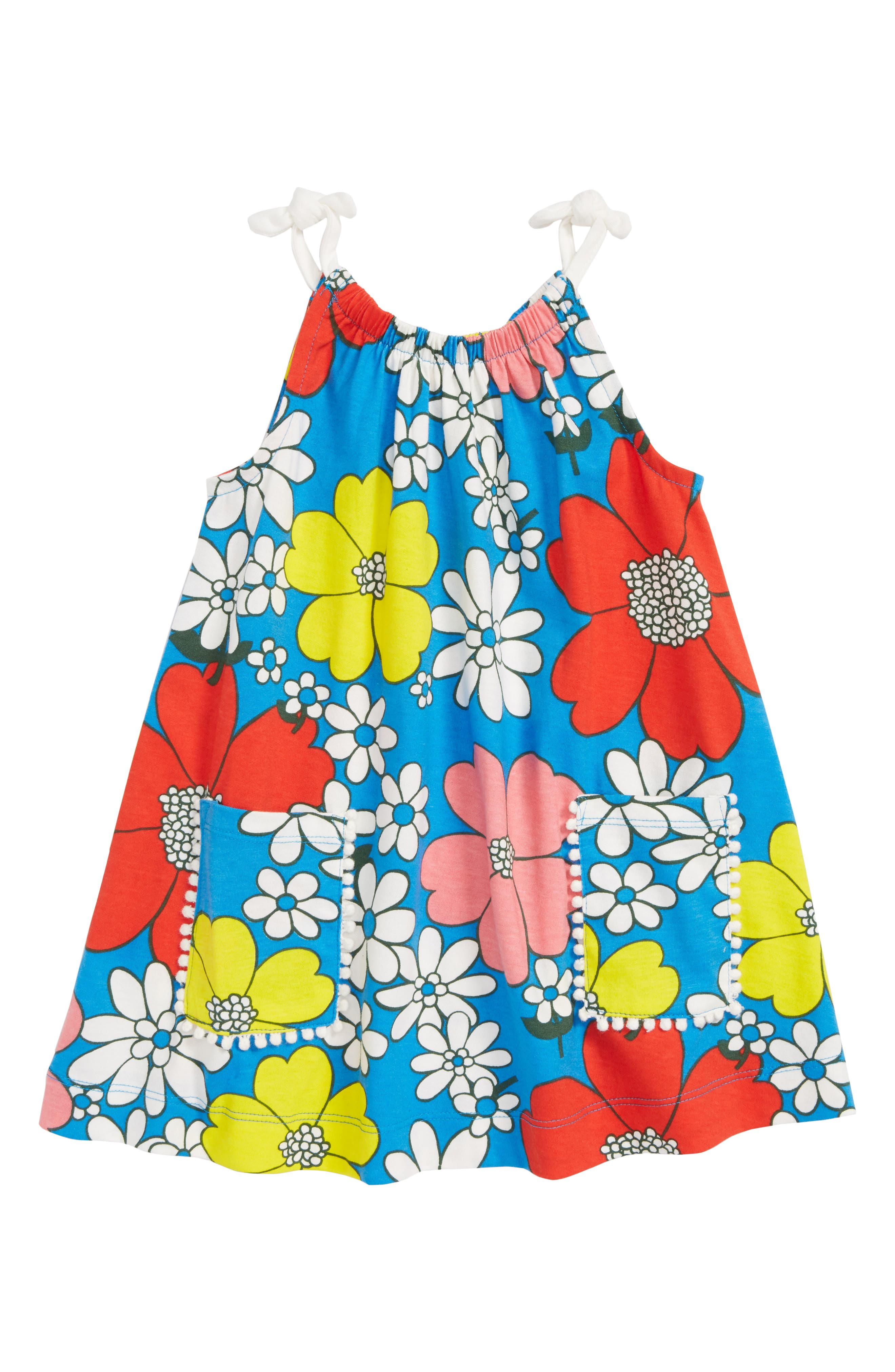 Jersey Tunic,                             Main thumbnail 1, color,                             Blue Flower Power
