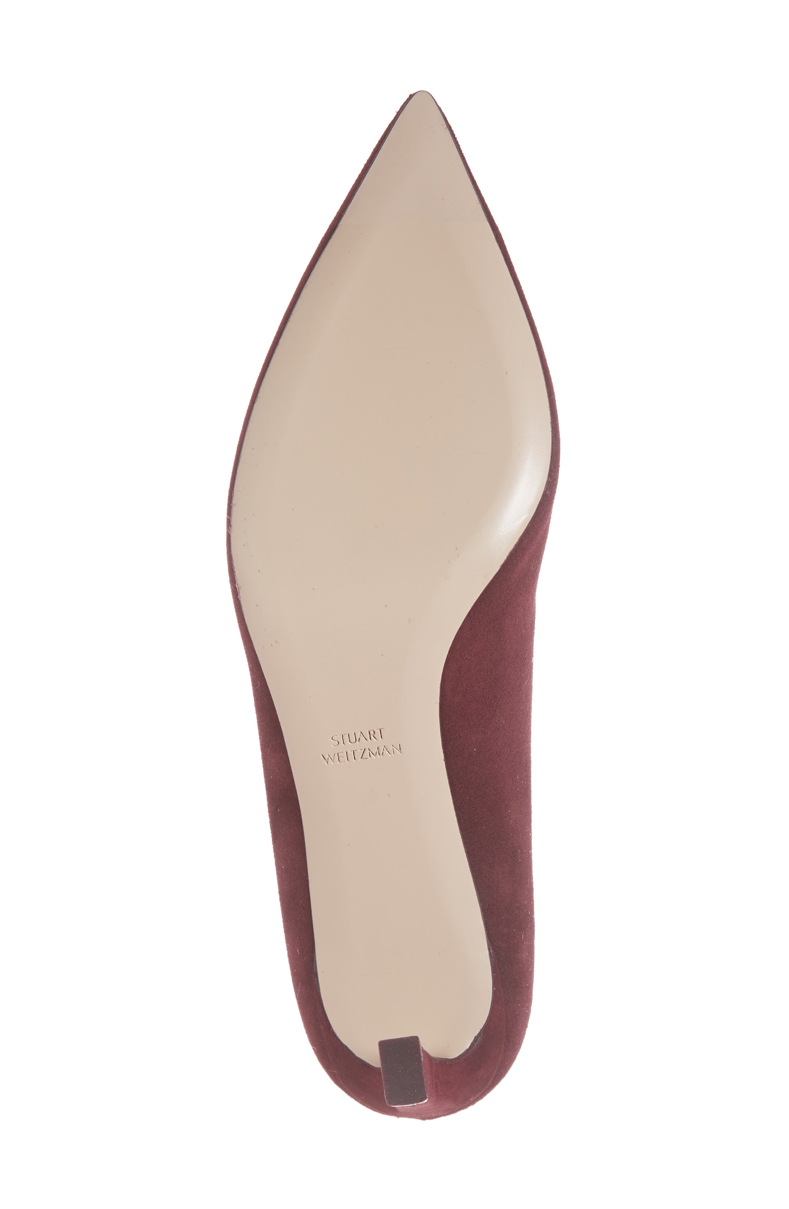 Mira Pointy Toe Mule,                             Alternate thumbnail 3, color,                             Cabernet Suede