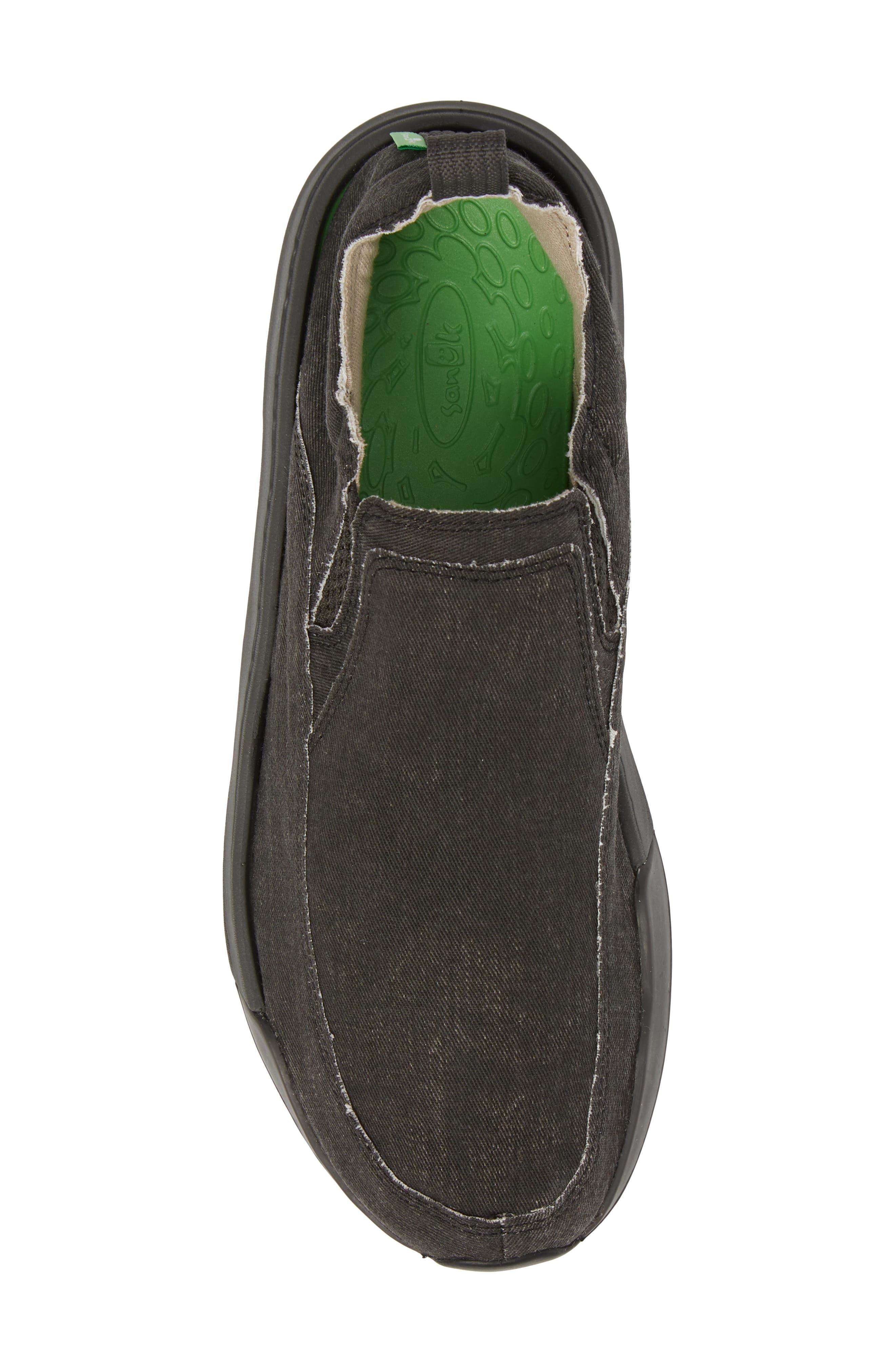 Chiba Quest Slip-On Sneaker,                             Alternate thumbnail 4, color,                             Black/ Black