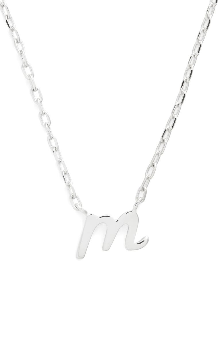 kate spade one in a million initial pendant necklace in m silver