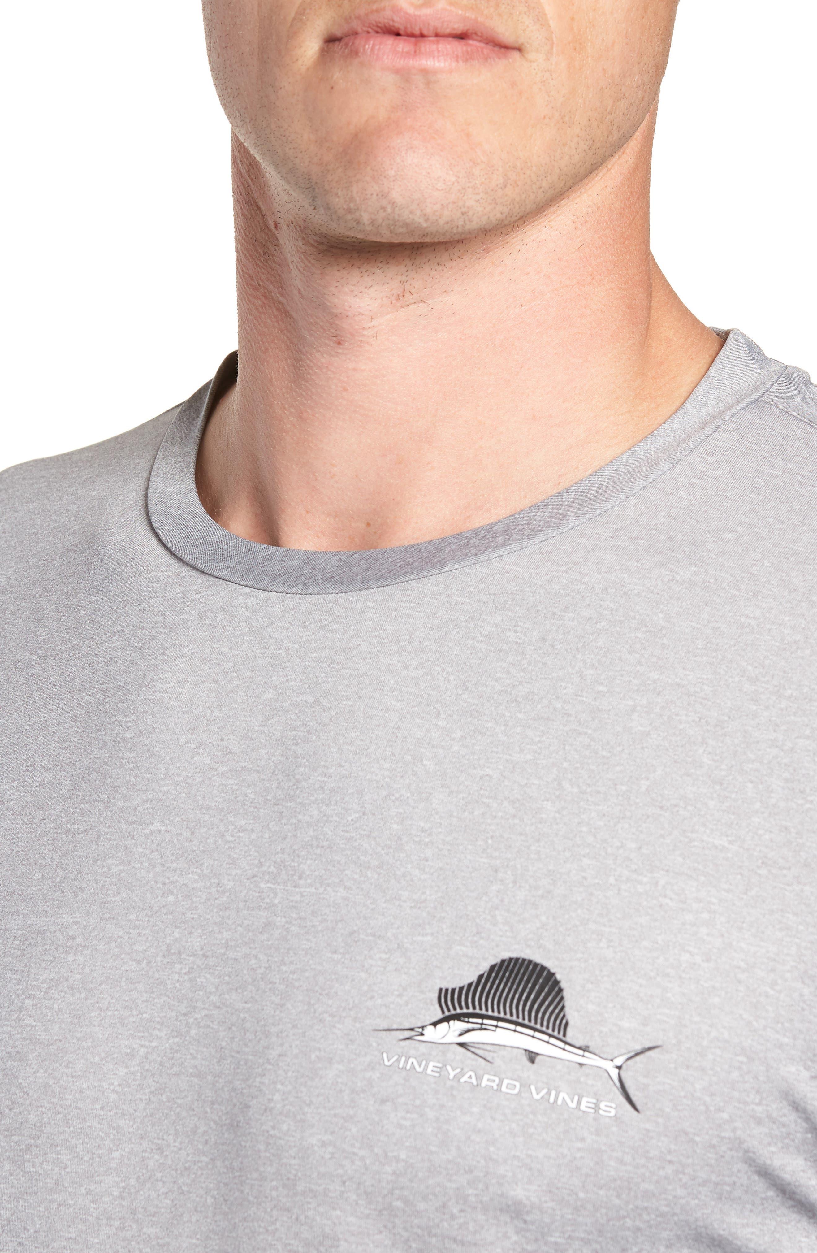 Sailfish Logo Performance T-Shirt,                             Alternate thumbnail 4, color,                             Grey Heather