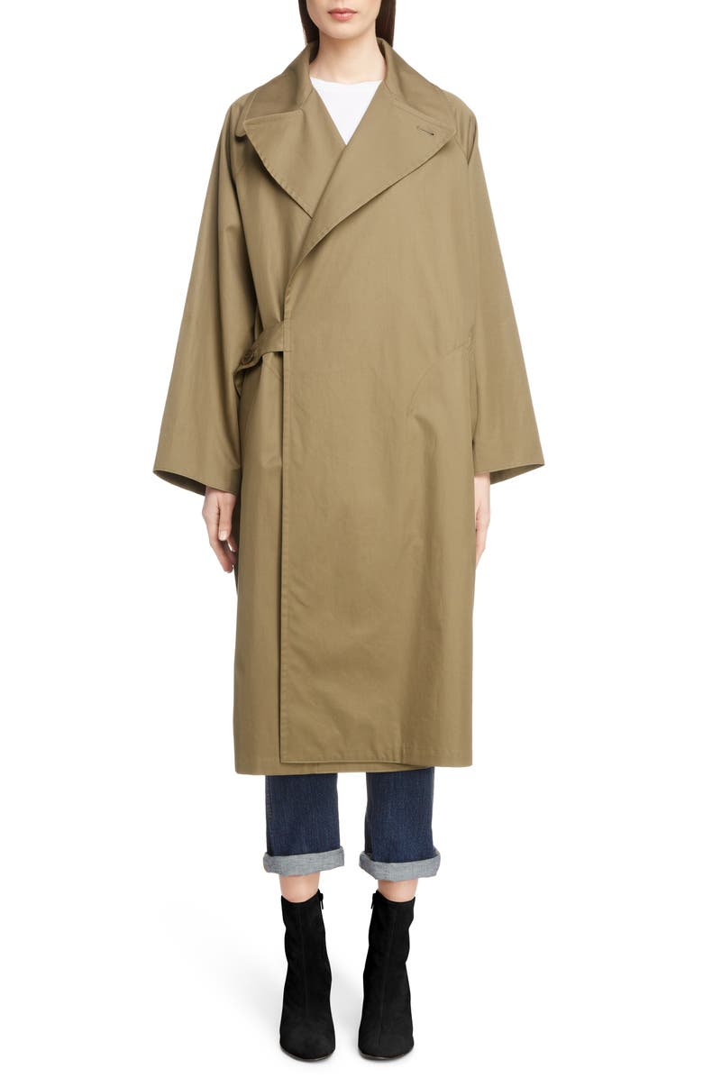 Side Tab Trench Coat