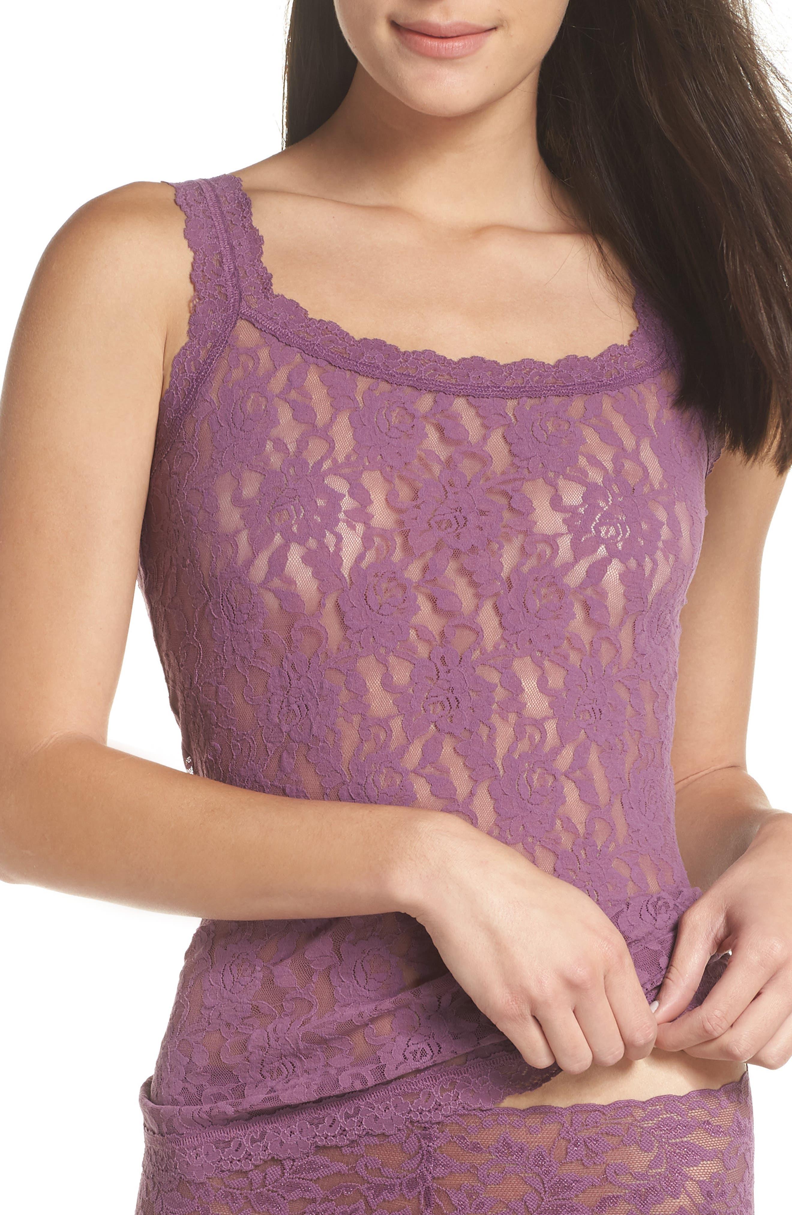 'Signature Lace' Camisole,                         Main,                         color, Valiant Purple