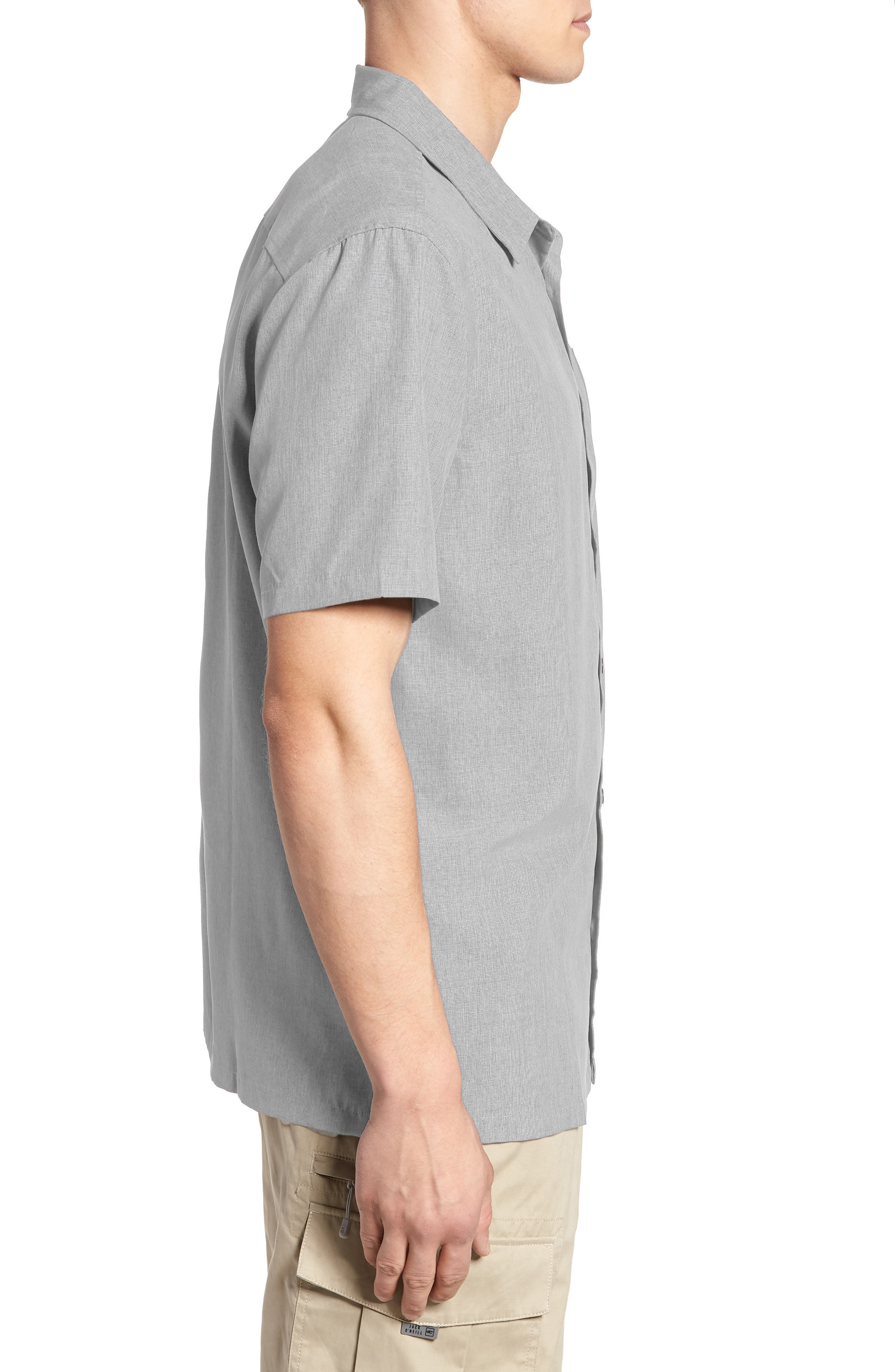 Liberty Regular Fit Short Sleeve Sport Shirt,                             Alternate thumbnail 9, color,                             Light Grey