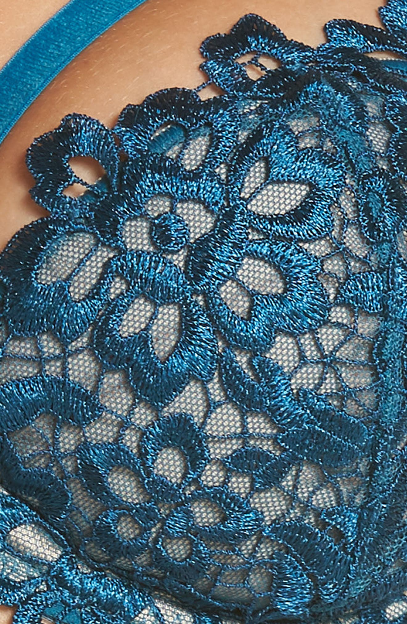 Underwire Balconette Bra,                             Alternate thumbnail 8, color,                             Peacock