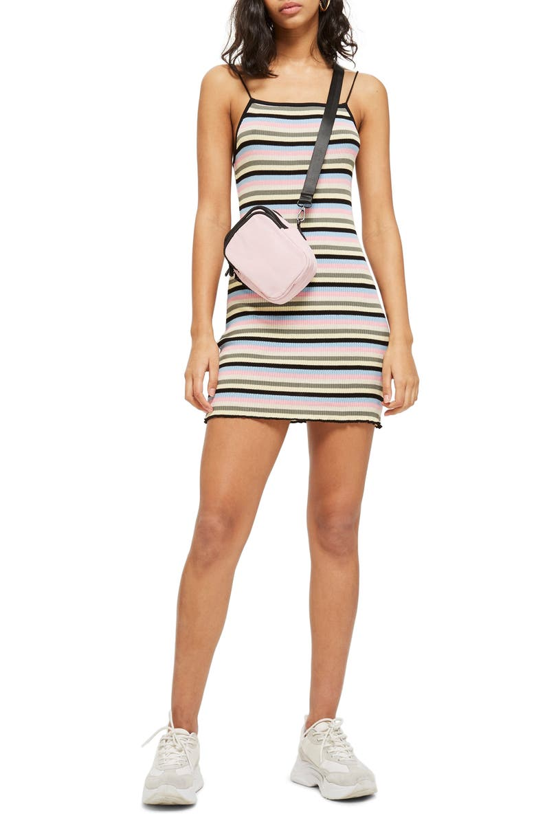 Candy Stripe Body-Con Minidress