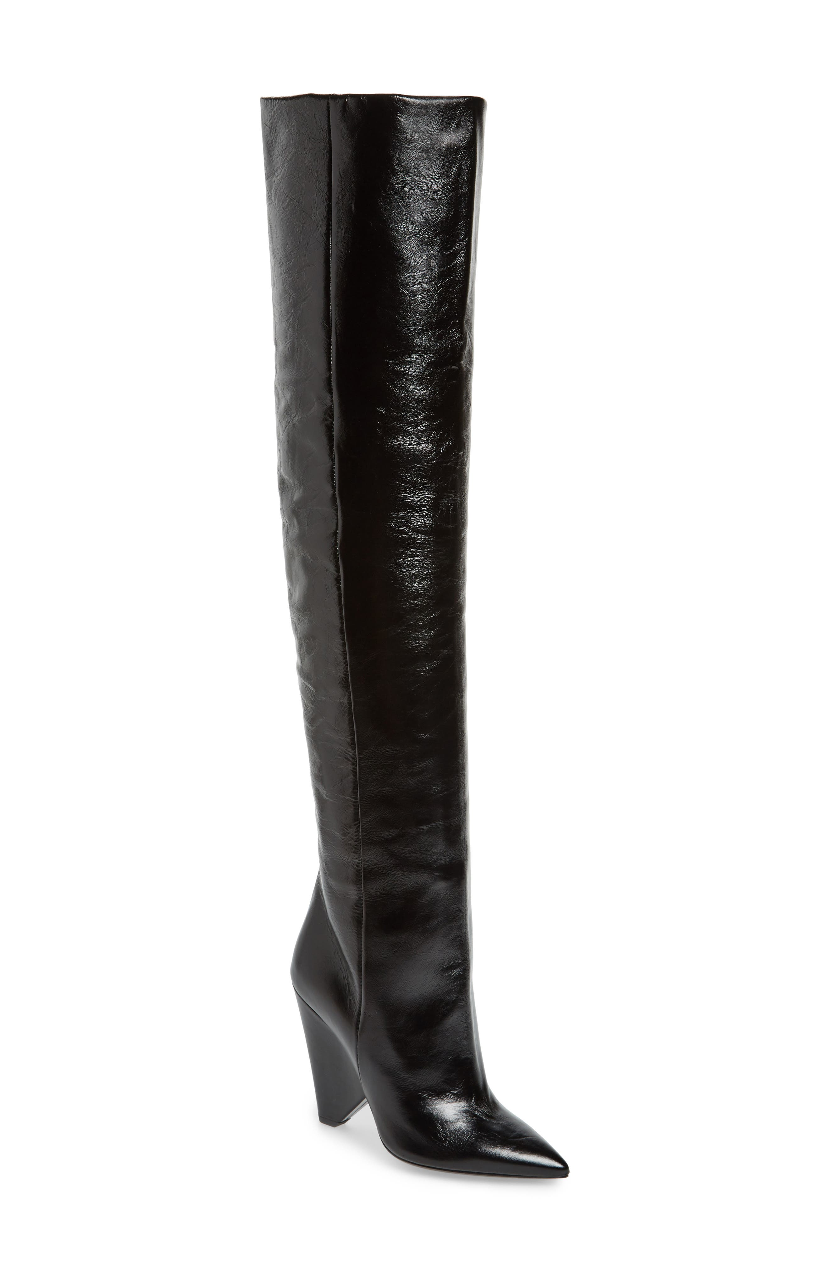 Niki Over the Knee Boot,                         Main,                         color, Black