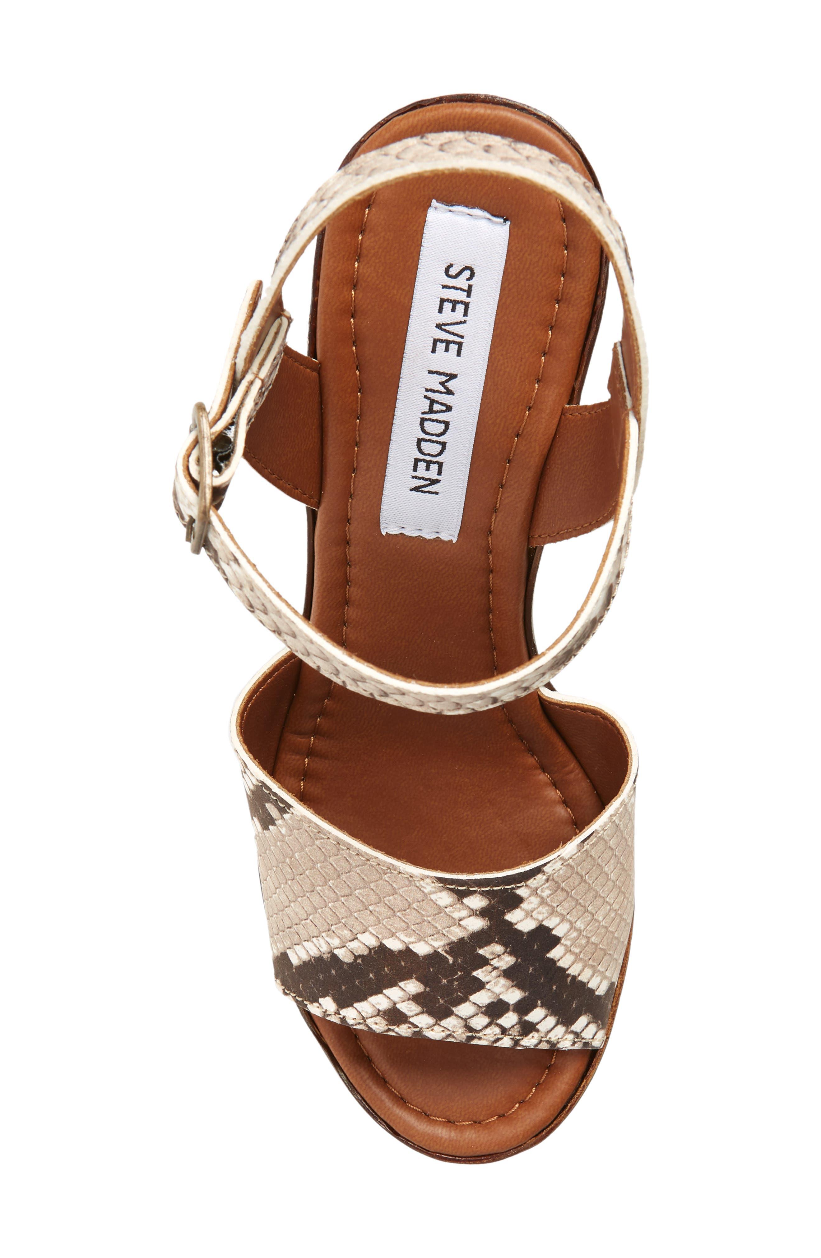 Lulla Platform Sandal,                             Alternate thumbnail 4, color,                             White Reptile