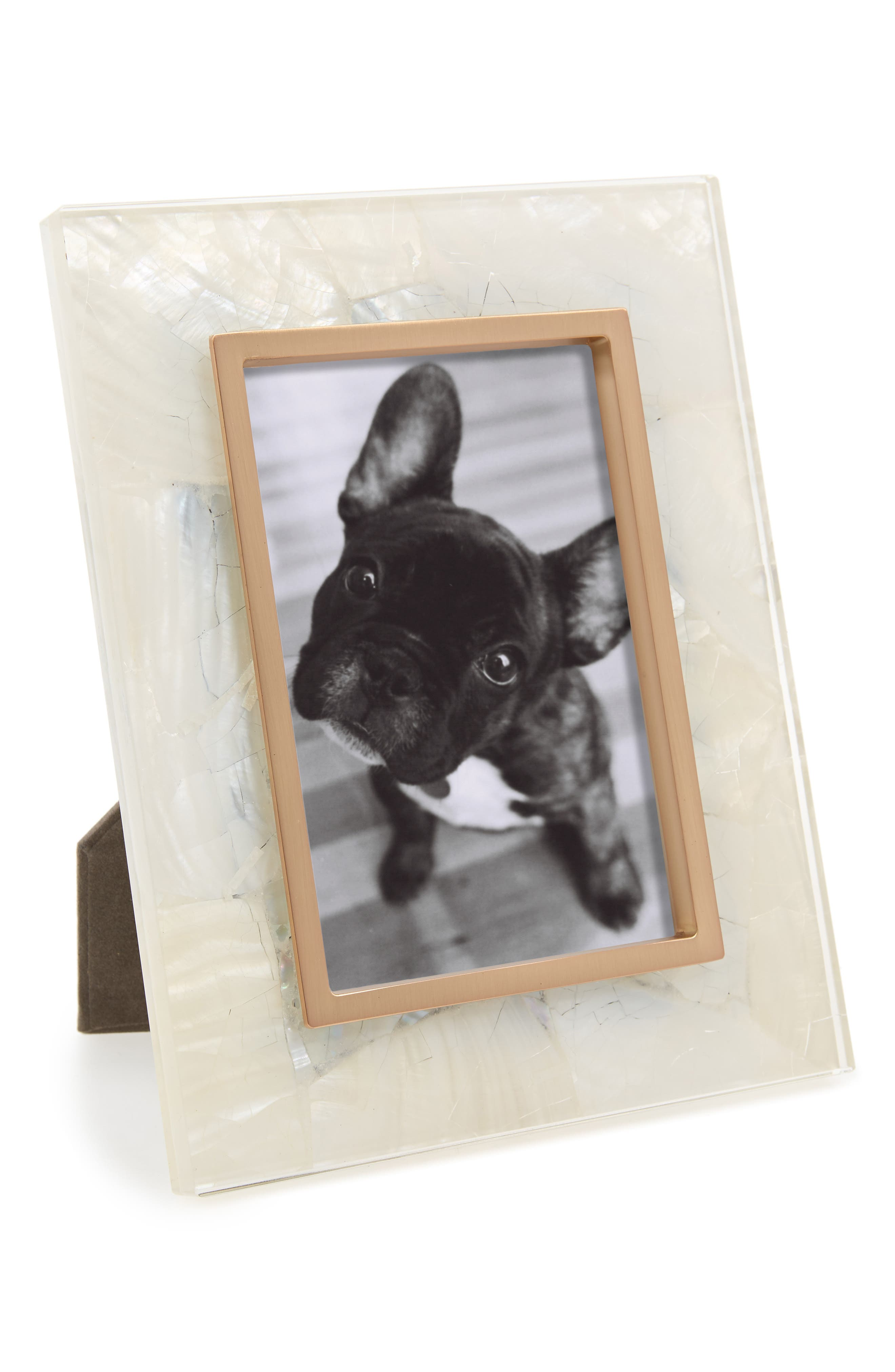 Stone Slab Picture Frame,                             Main thumbnail 1, color,                             White Mother Of Pearl