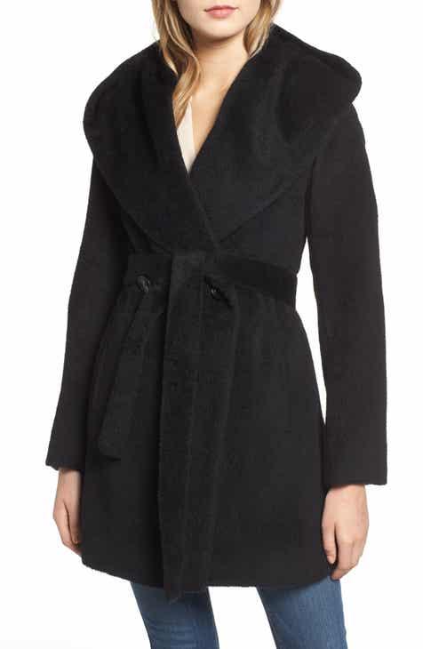 Trina Turk Grace Hooded Wrap Walker Coat
