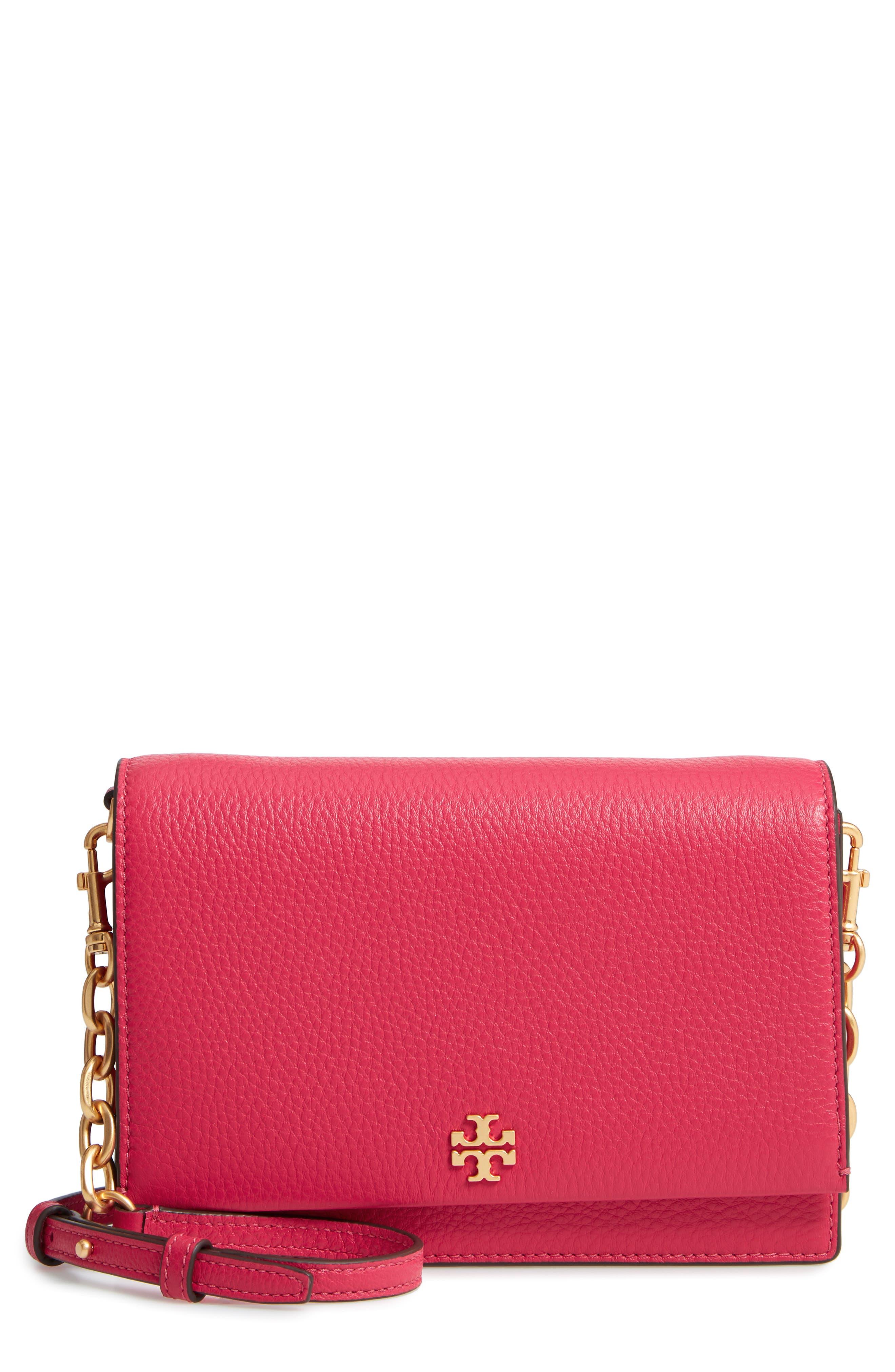 Georgia Pebble Leather Shoulder Bag,                         Main,                         color, Bright Azalea