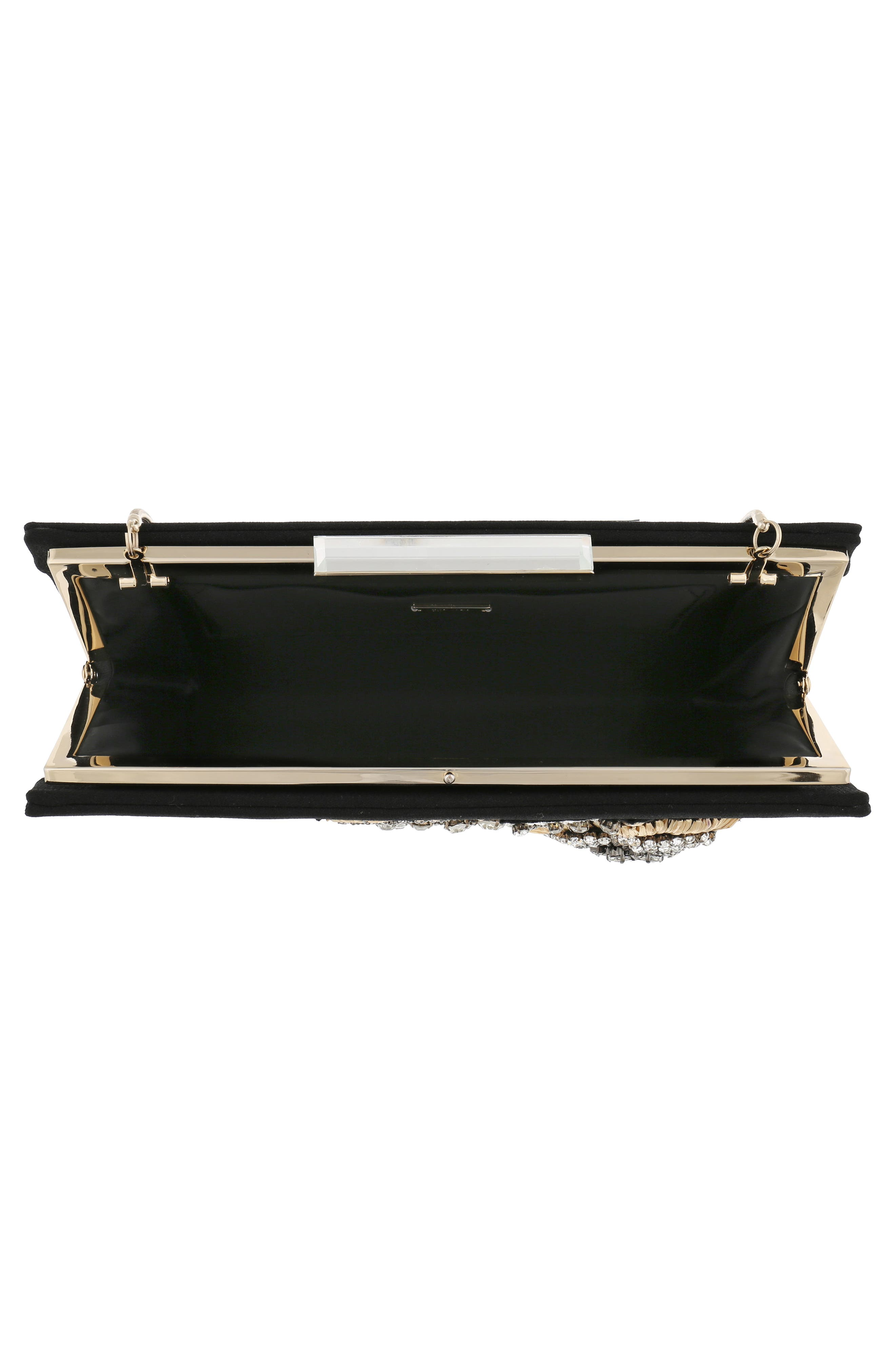 Generous Embellished Clutch,                             Alternate thumbnail 4, color,                             Black
