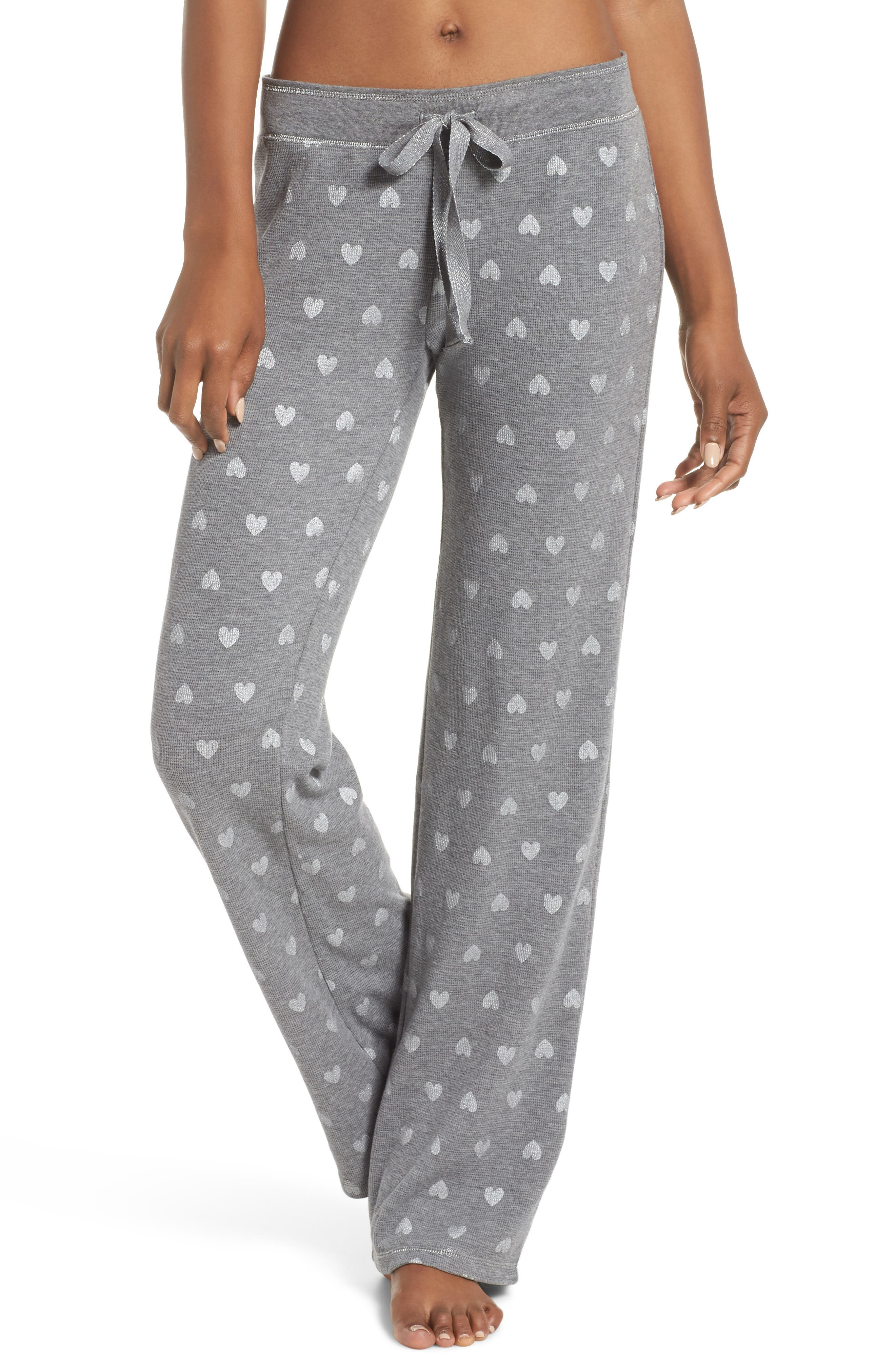 Wild Heart Thermal Lounge Pants,                             Main thumbnail 1, color,                             H Grey