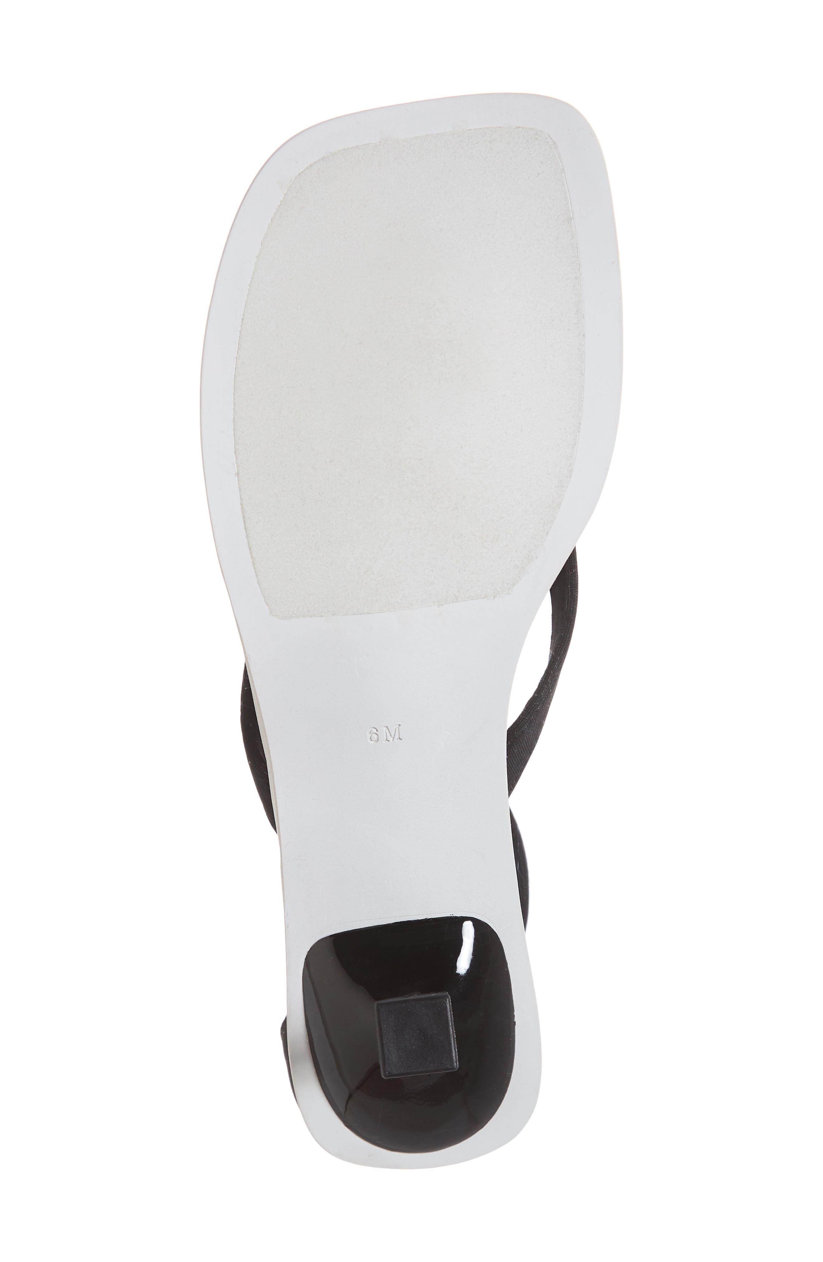 Dribble Cuff Pedestal Sandal,                             Alternate thumbnail 6, color,                             Black Neoprene White Fabric