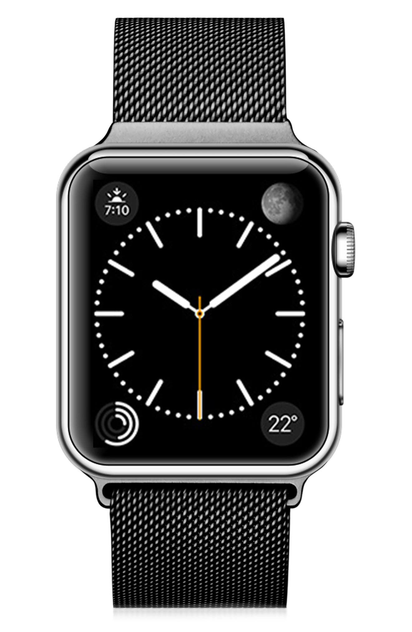 STAINLESS STEEL MESH APPLE WATCH STRAP