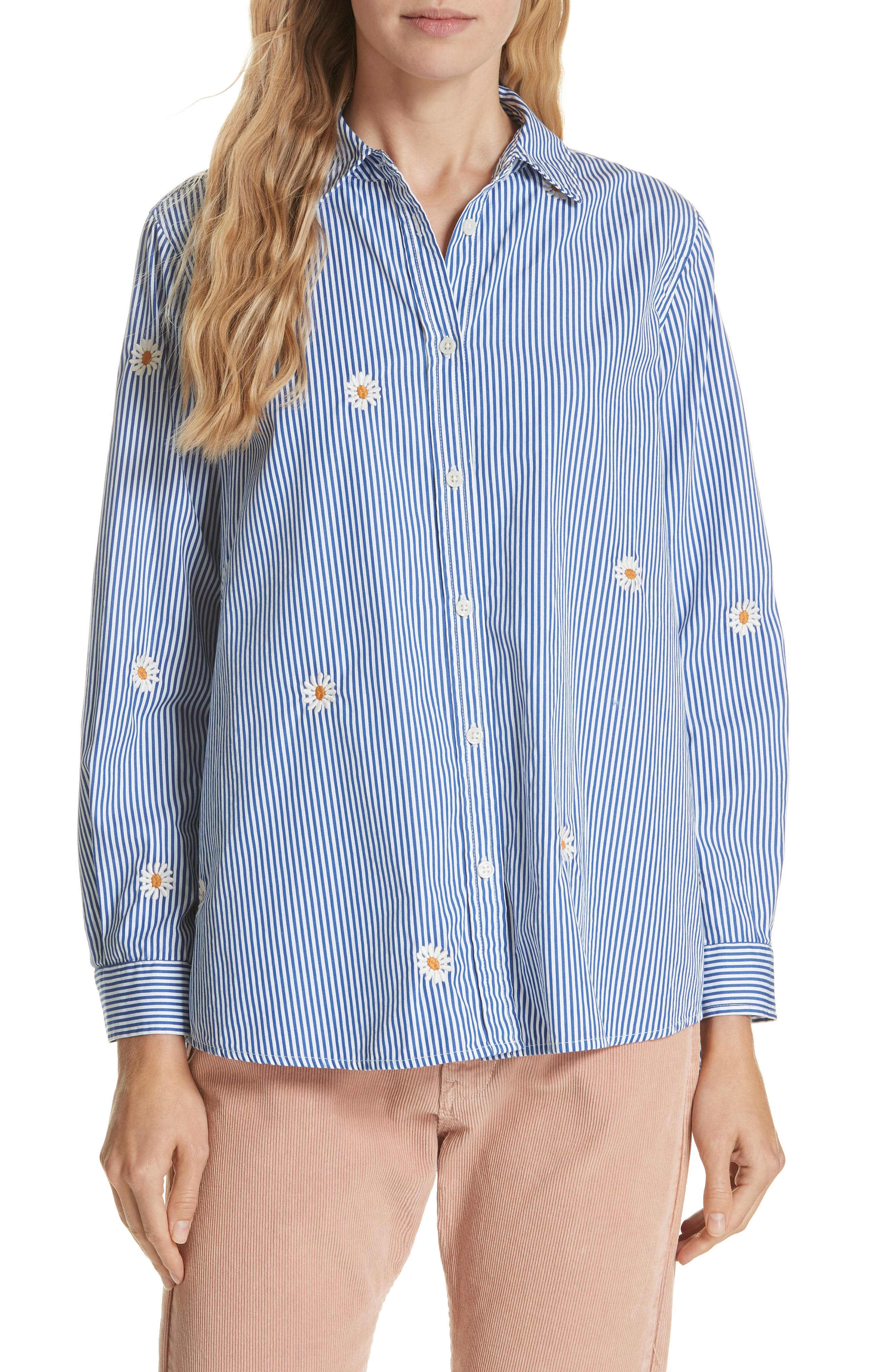 THE GREAT EMBROIDERED SWING OXFORD SHIRT