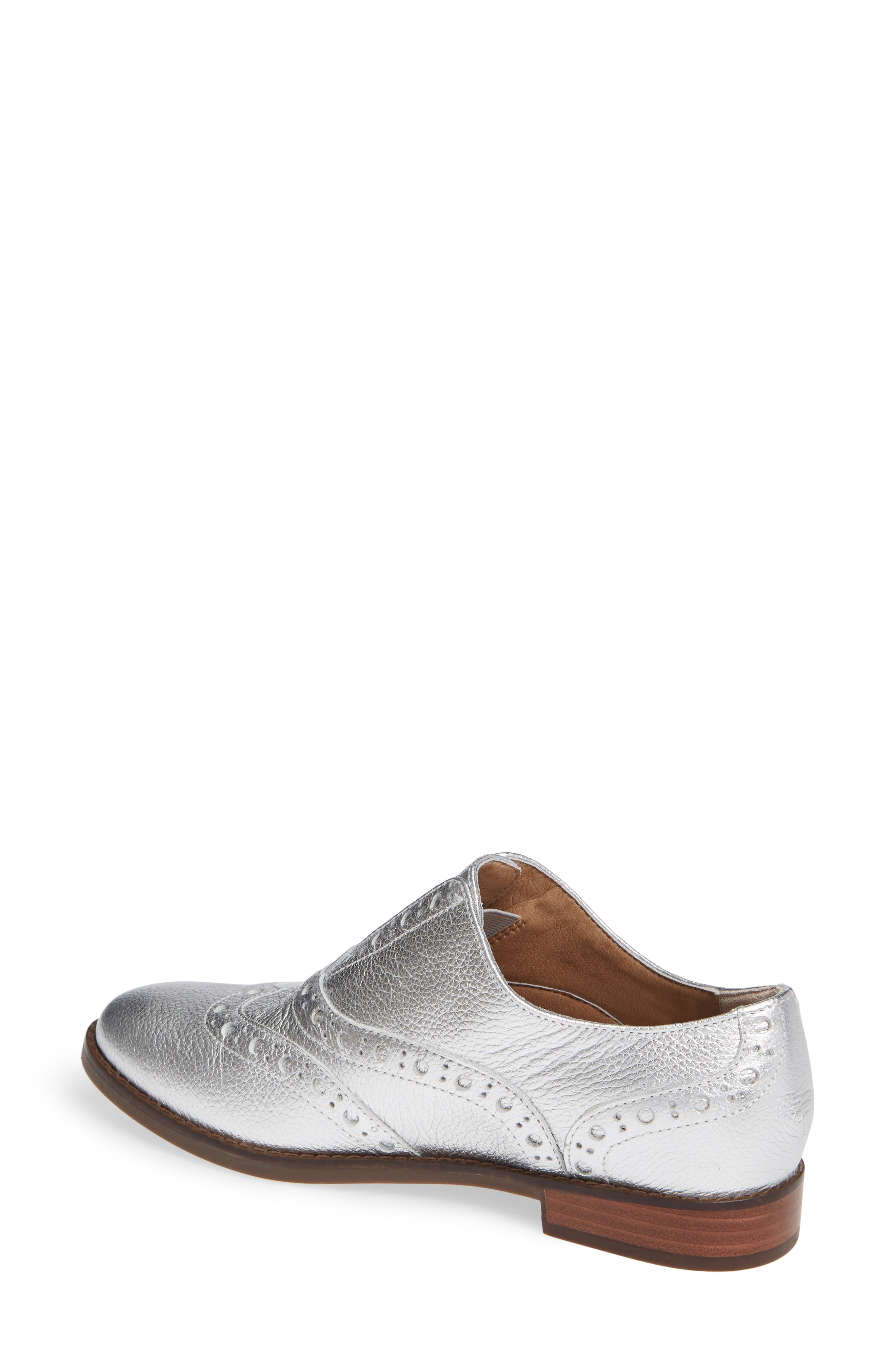 Hadley Wingtip,                             Alternate thumbnail 2, color,                             Silver Leather