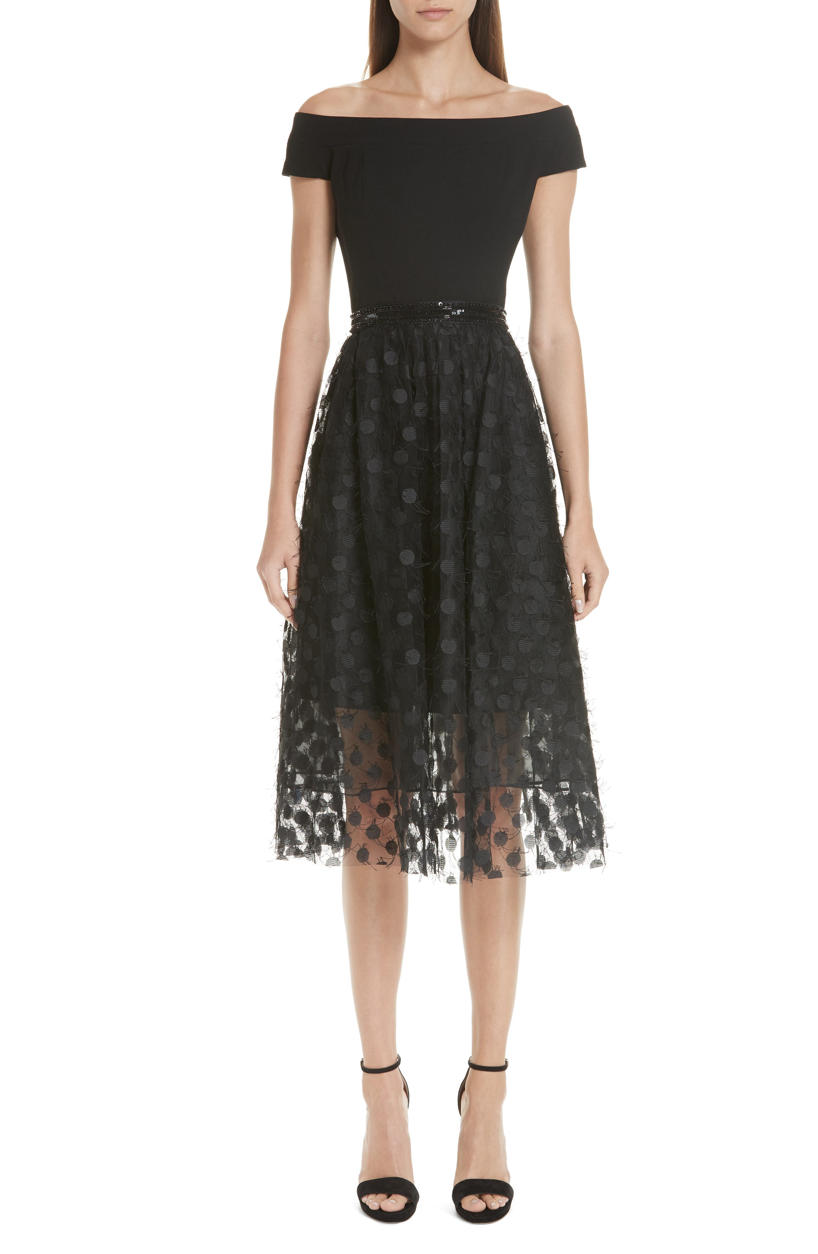 Dress for Women, Evening Cocktail Party On Sale, Black, Cotton, 2017, 10 12 Valentino