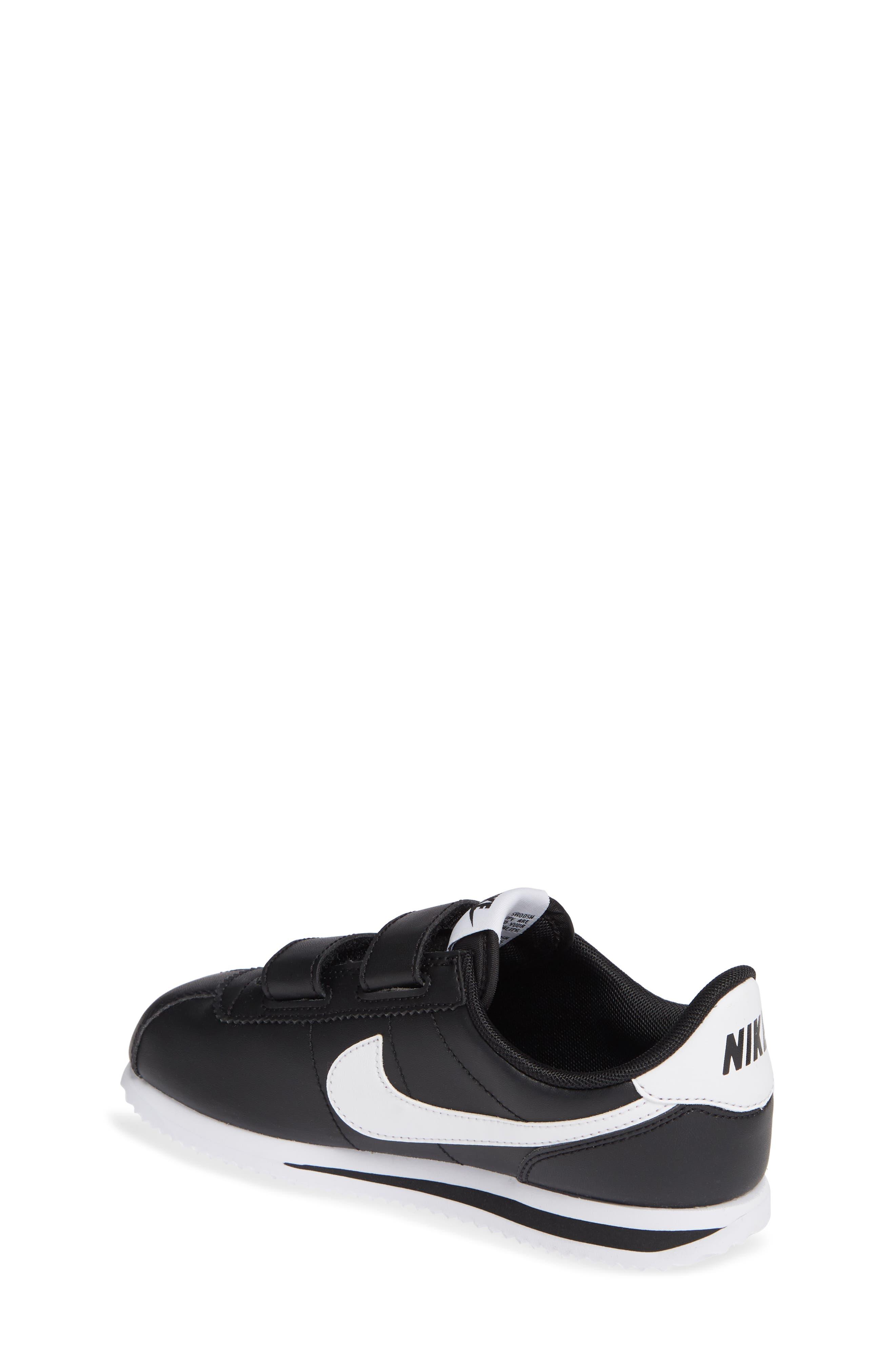 Cortez Basic SL Sneaker,                             Alternate thumbnail 2, color,                             Black/ White