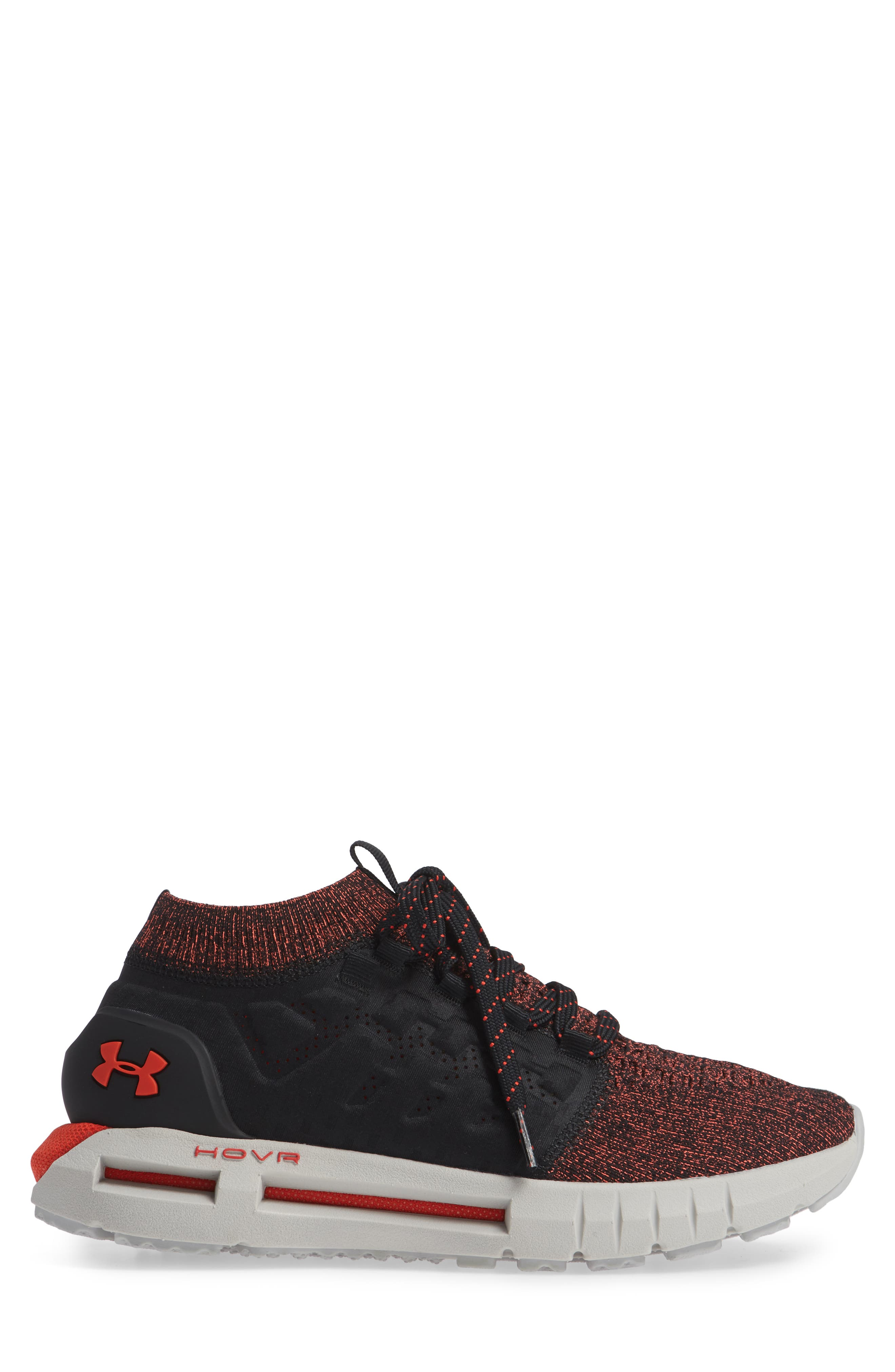 HOVR Phantom NC Sneaker,                             Alternate thumbnail 4, color,                             Black/ Ghost Grey/ Radio Red