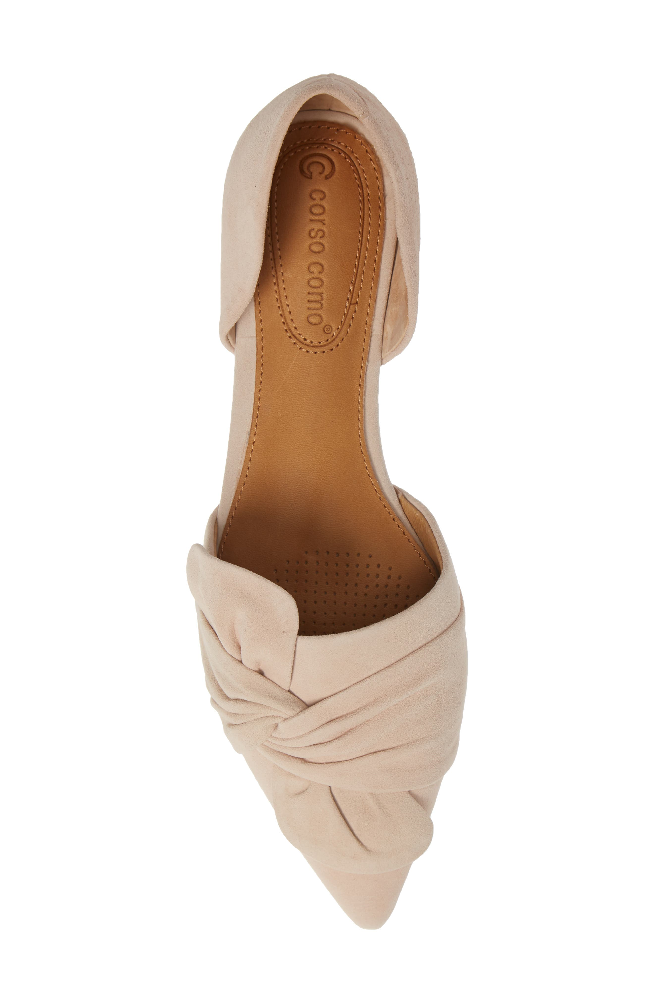 Mollie d'Orsay Flat,                             Alternate thumbnail 4, color,                             Nude Suede