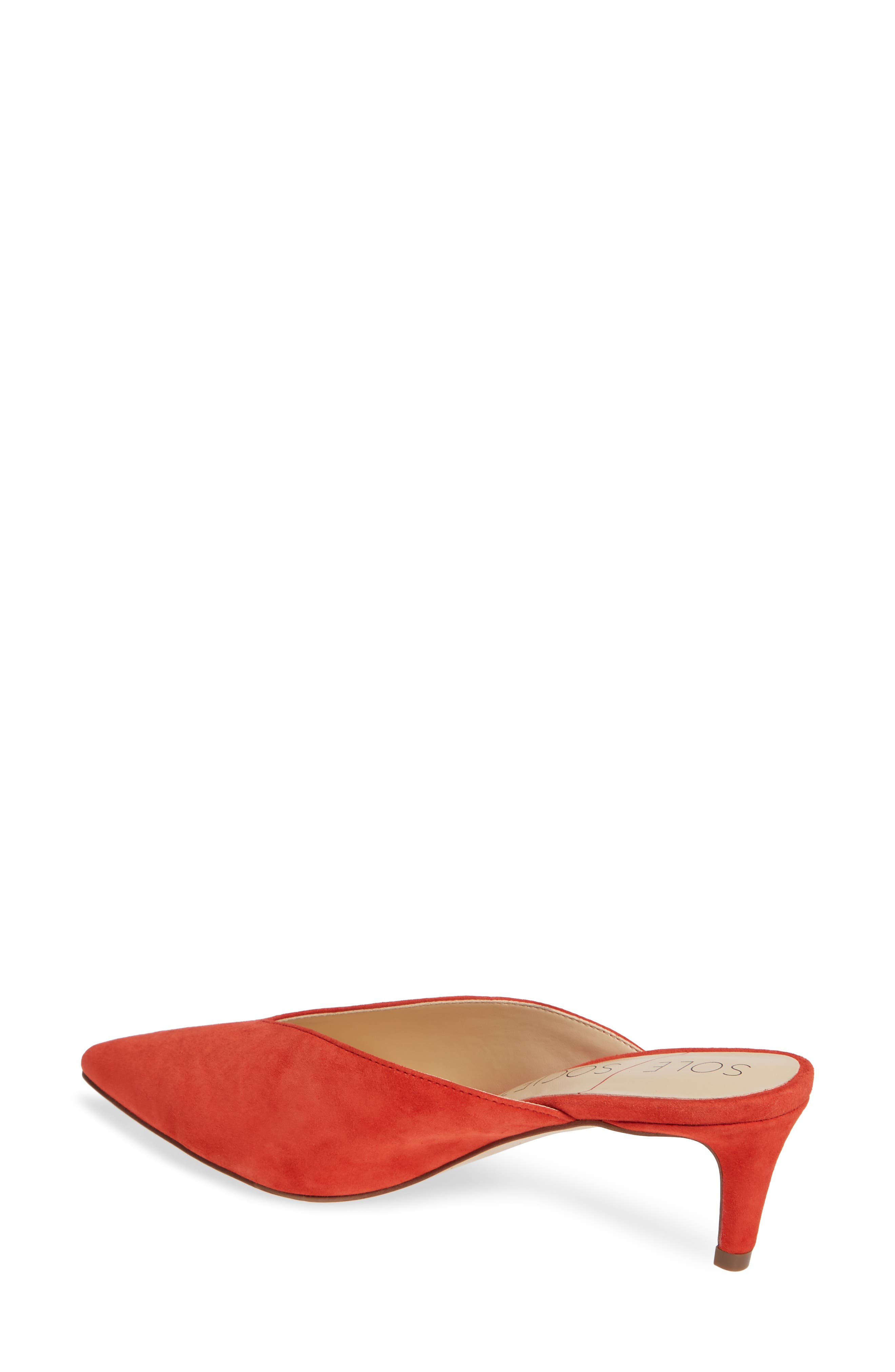 Maleah Pointy Toe Mule,                             Alternate thumbnail 2, color,                             Deep Coral