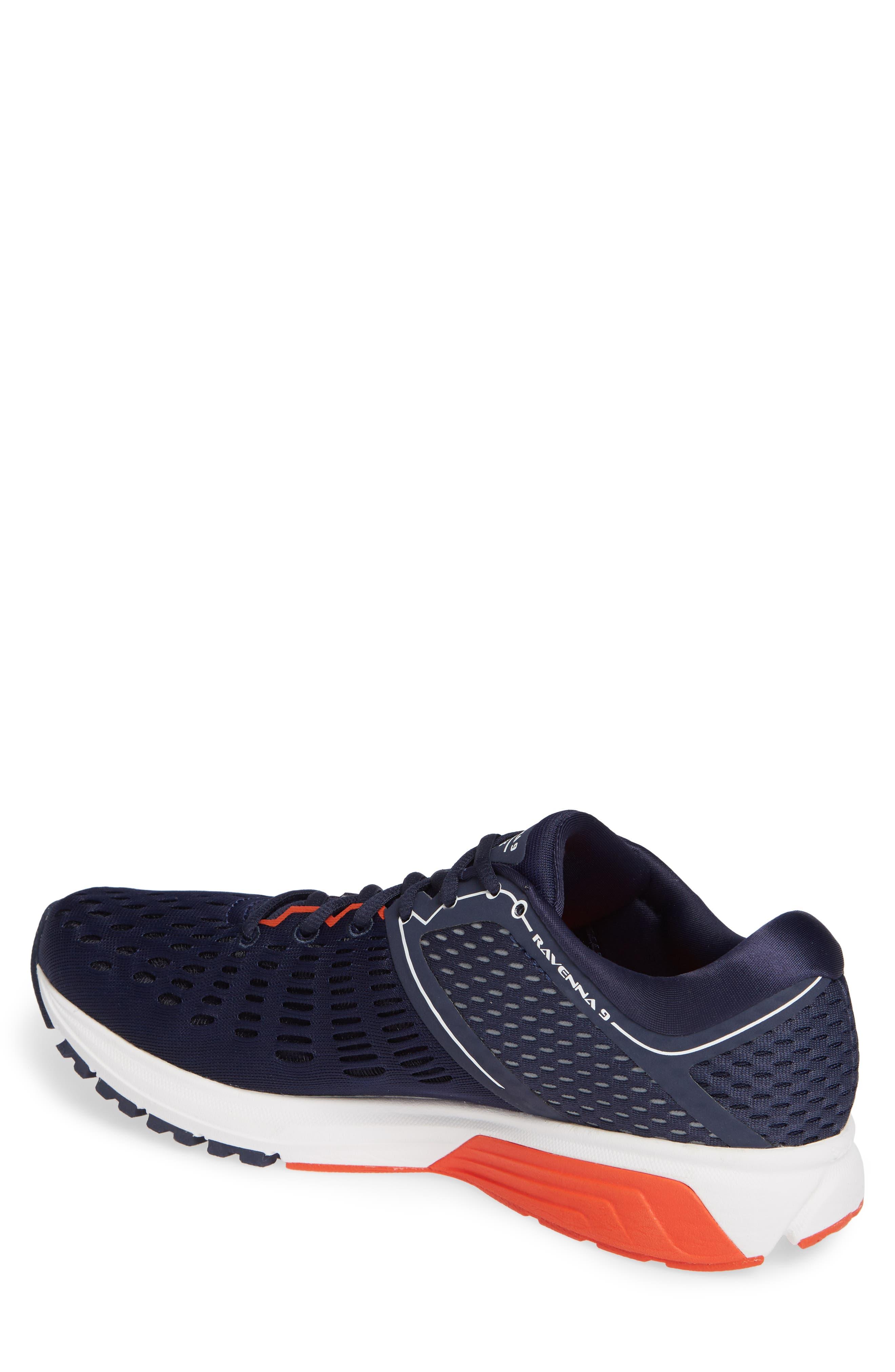Ravenna 9 Running Shoe,                             Alternate thumbnail 2, color,                             Navy/ White/ Orange