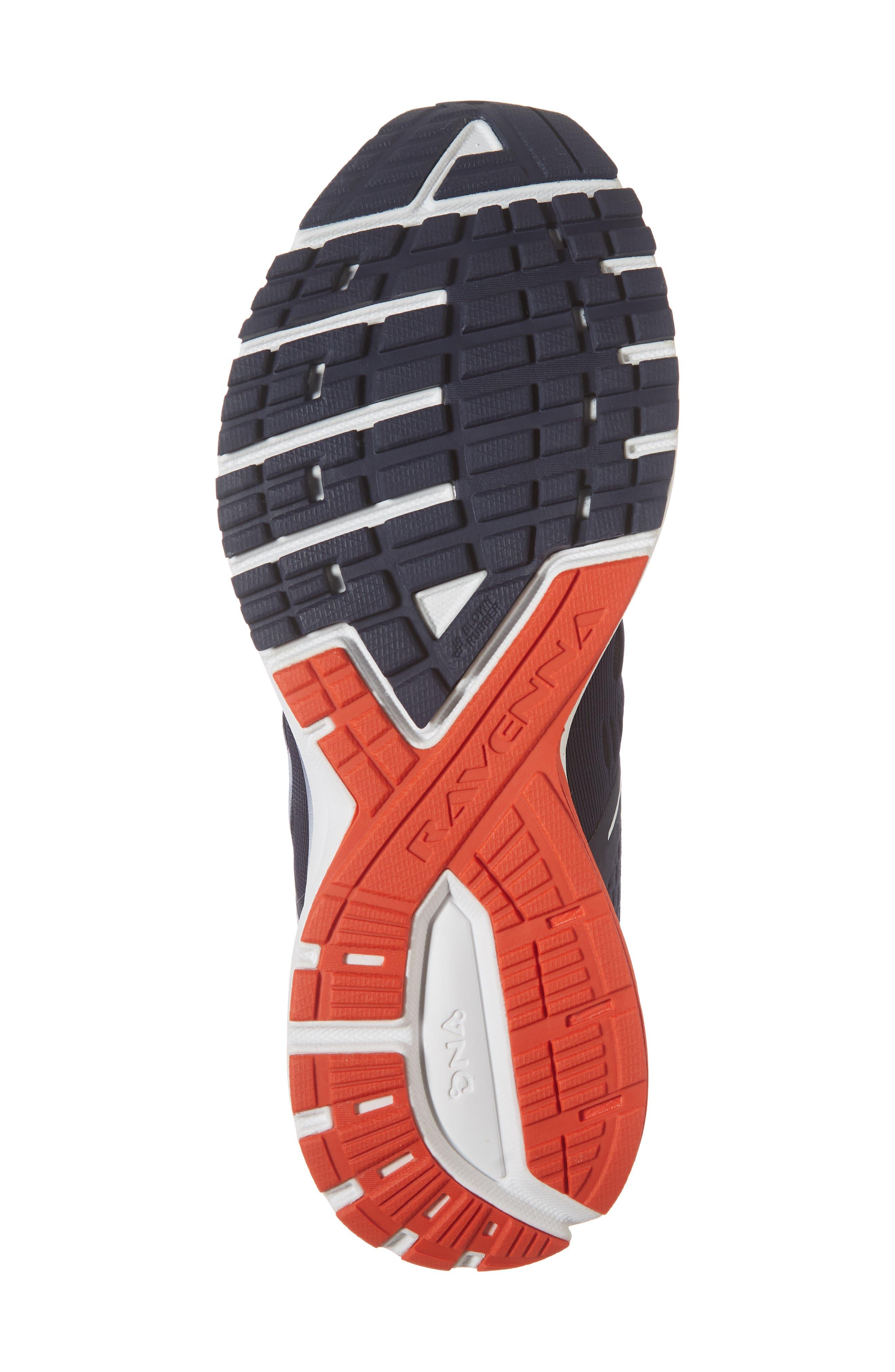 Ravenna 9 Running Shoe,                             Alternate thumbnail 4, color,                             Navy/ White/ Orange
