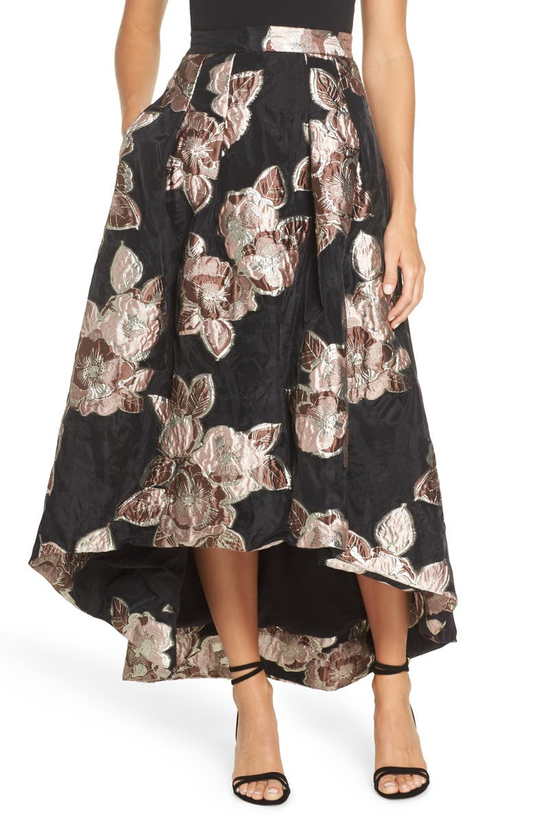 Jacquard High/Low Ball Skirt
