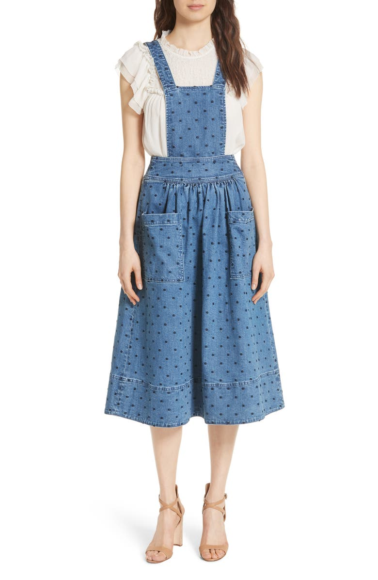 Johanna Polka Dot Pinafore Dress
