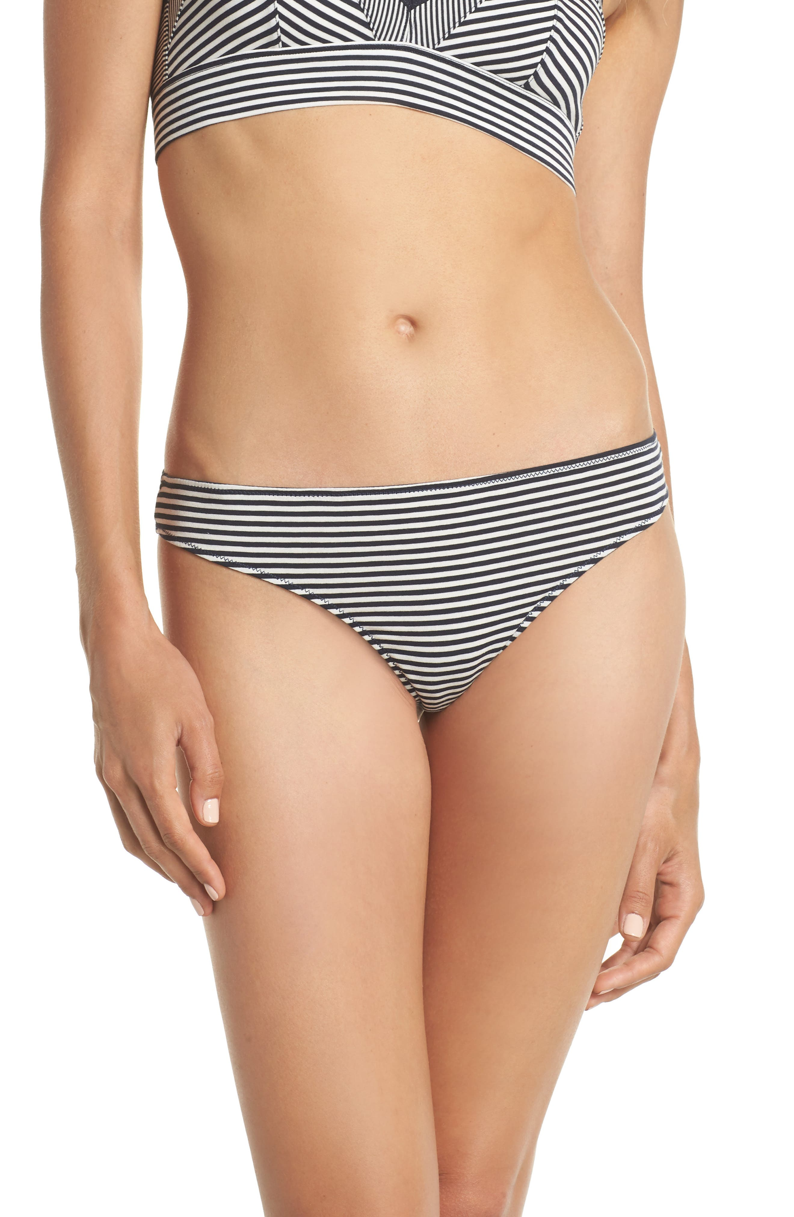 Jersey Thong,                             Main thumbnail 1, color,                             Heather Navy Stripe
