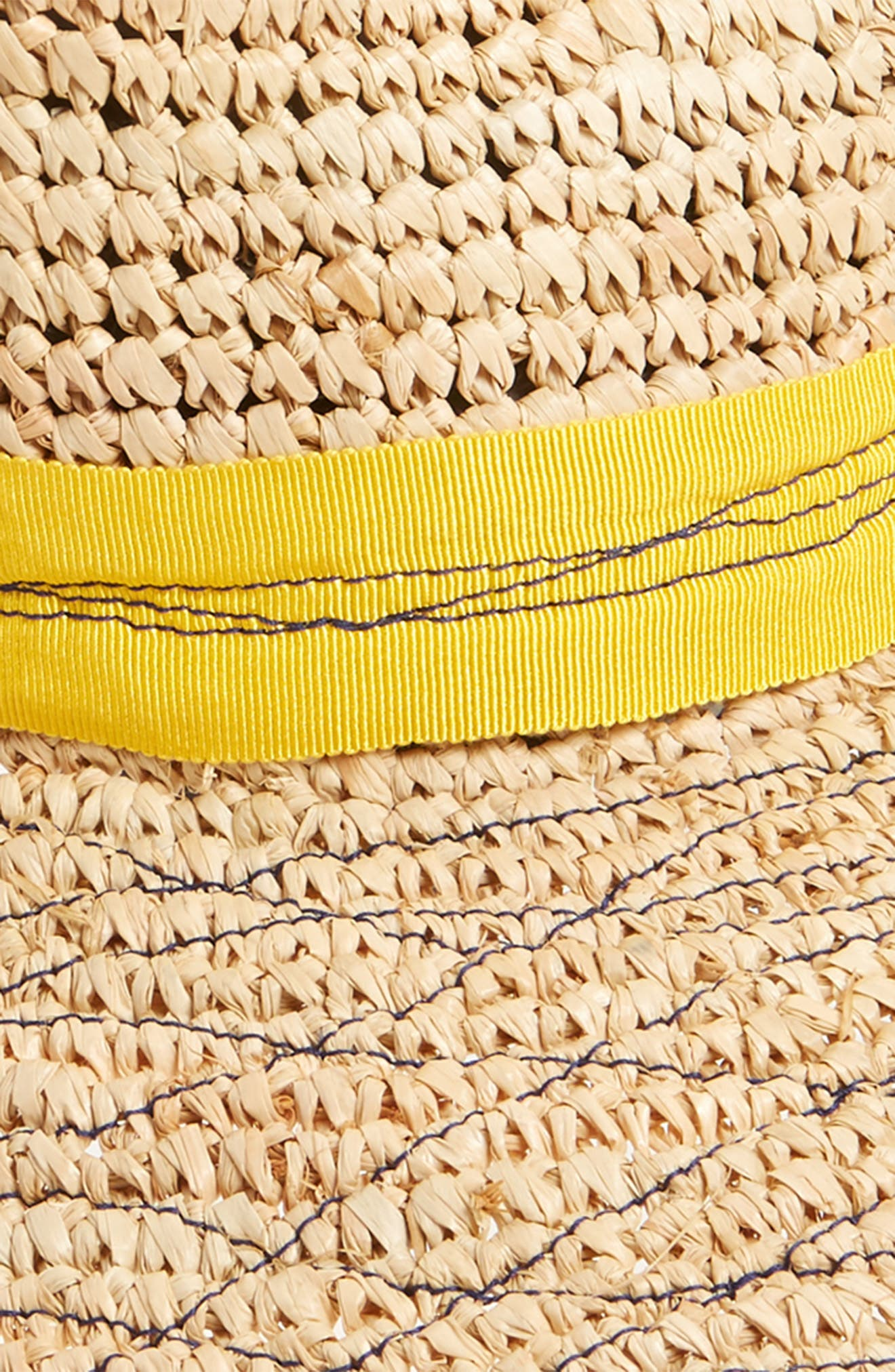 Re-Mama Tarboush Raffia Hat,                             Alternate thumbnail 2, color,                             Yellow
