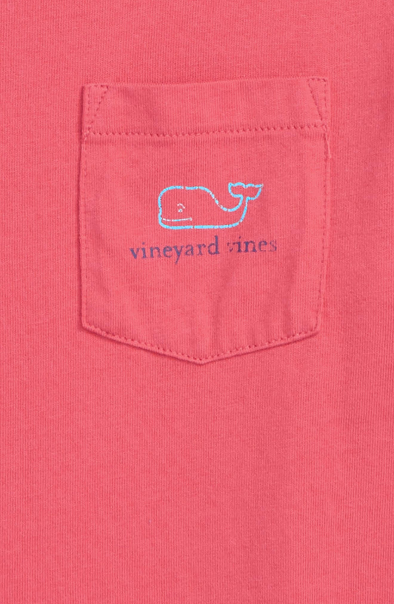 Stone Vintage Whale Pocket T-Shirt,                             Alternate thumbnail 3, color,                             Jetty Red