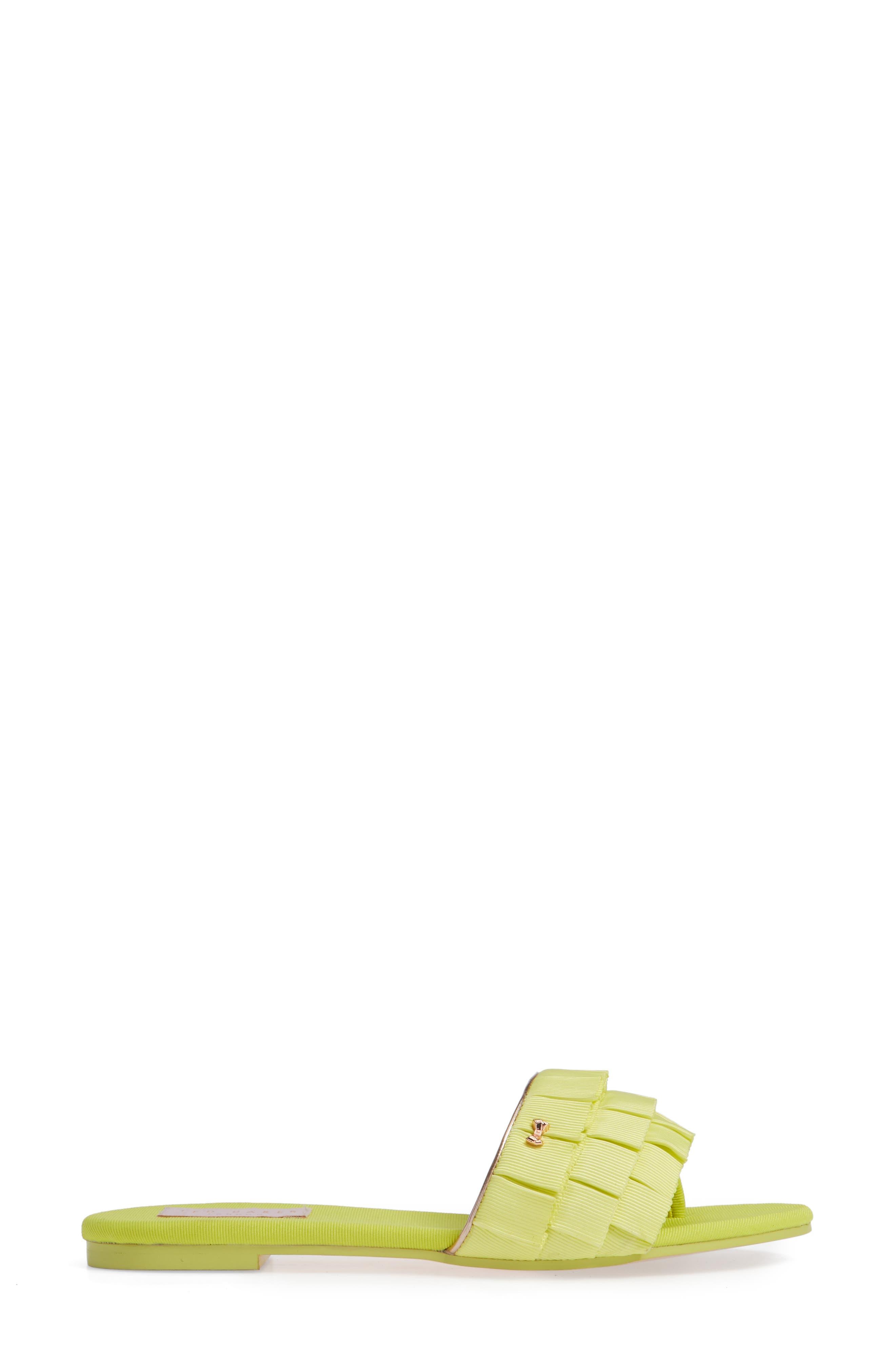 Towdi Sandal,                             Alternate thumbnail 6, color,                             Yellow Fabric