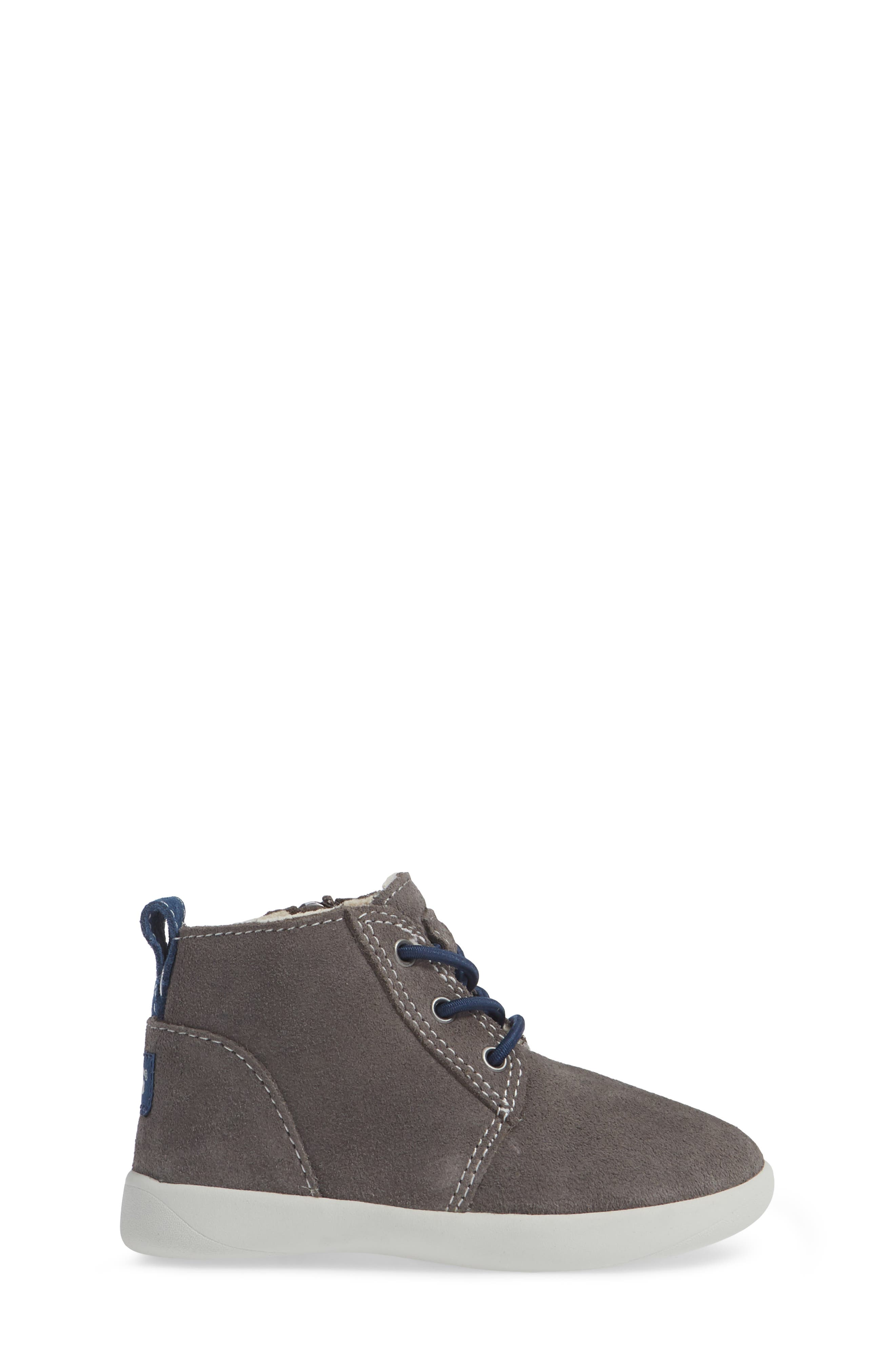 Kristjan Chukka Bootie Sneaker,                             Alternate thumbnail 4, color,                             Charcoal Grey