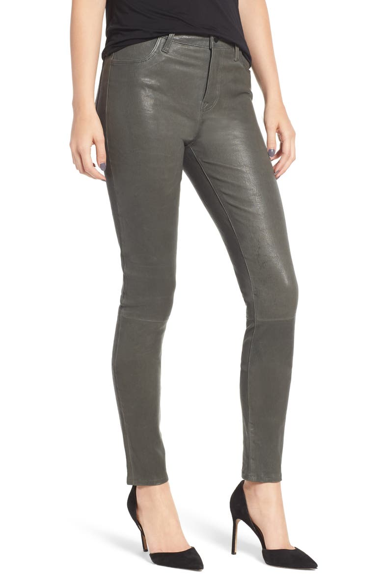'Maria' Lambskin Leather Leggings