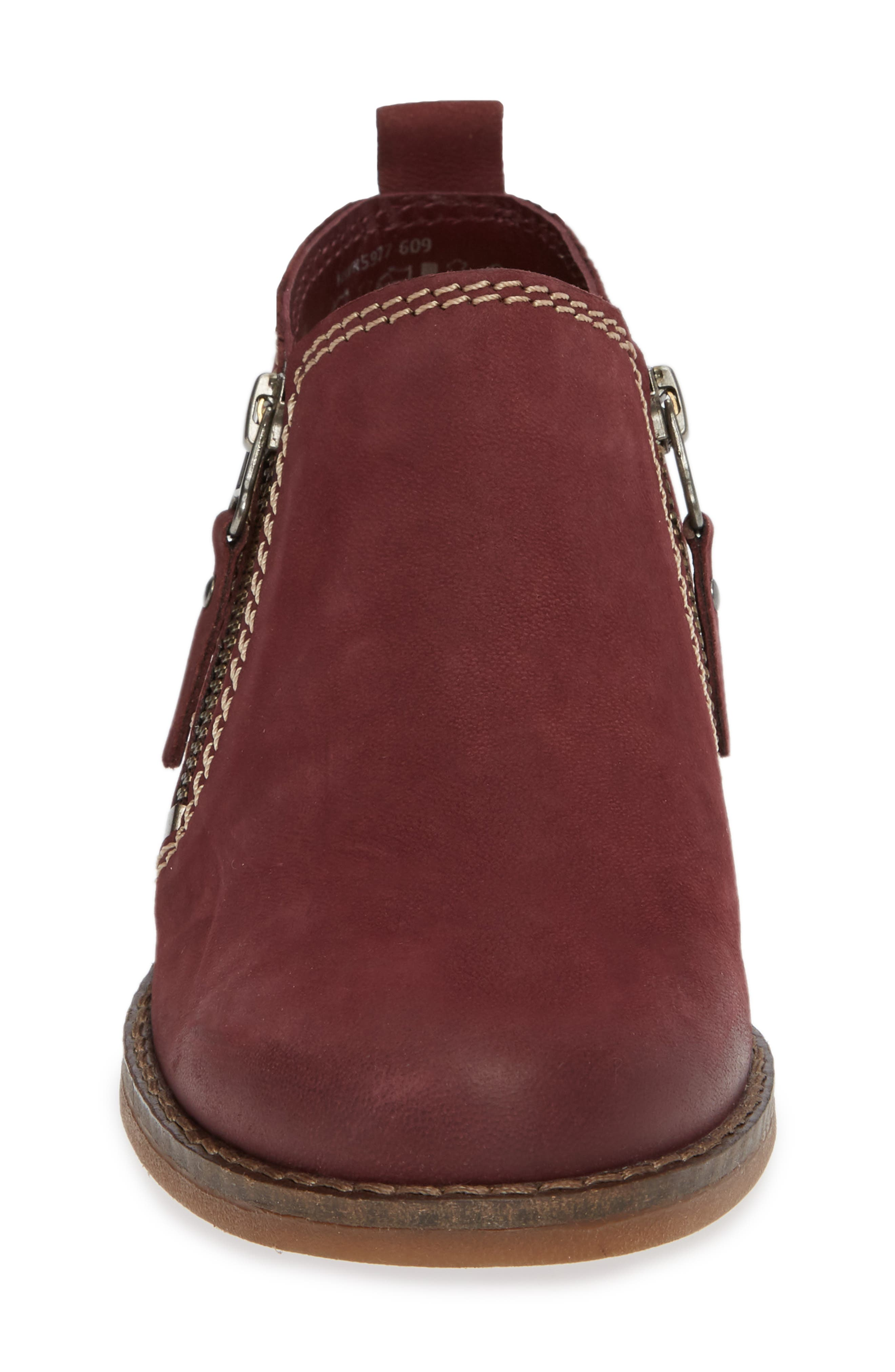'Mazin Cayto' Bootie,                             Alternate thumbnail 4, color,                             Dark Wine Nubuck