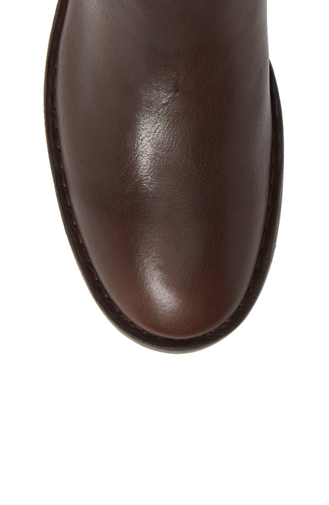Sern Water Resistant Chelsea Boot,                             Alternate thumbnail 5, color,                             Brown Apso