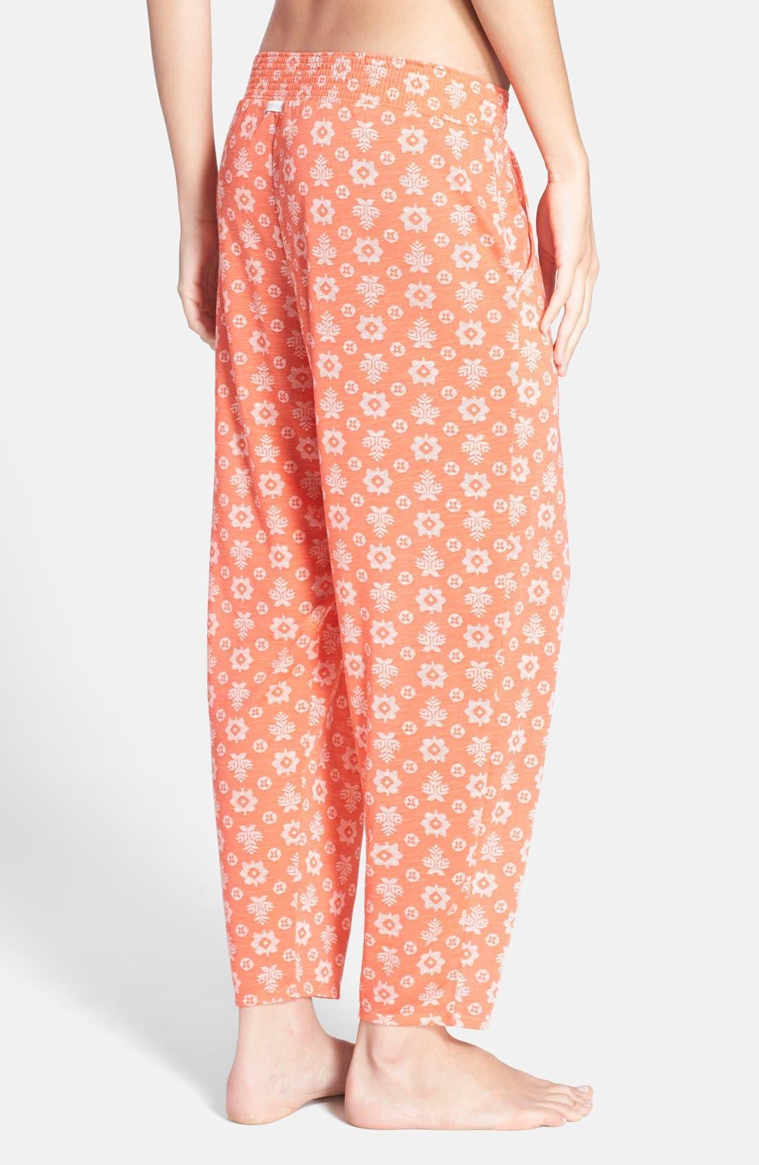 Alternate Image 2  - kensie Print Crop Jersey Pajama Pants