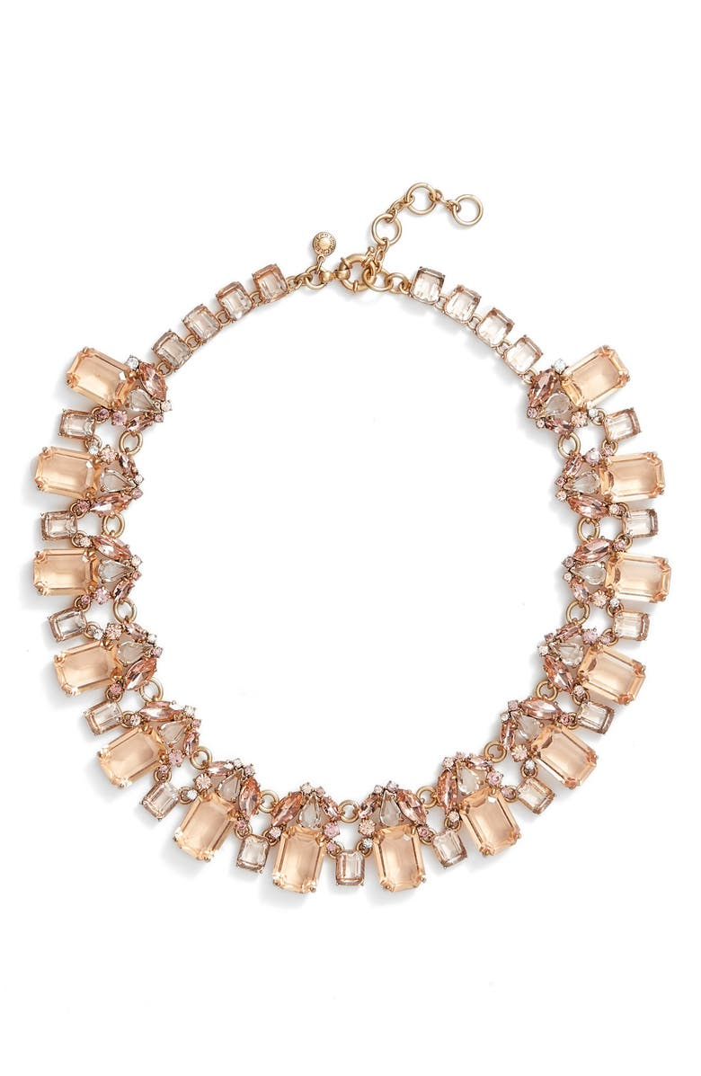 J. Crew Glass Bead Necklace,                         Main,                         color, Warm Blush
