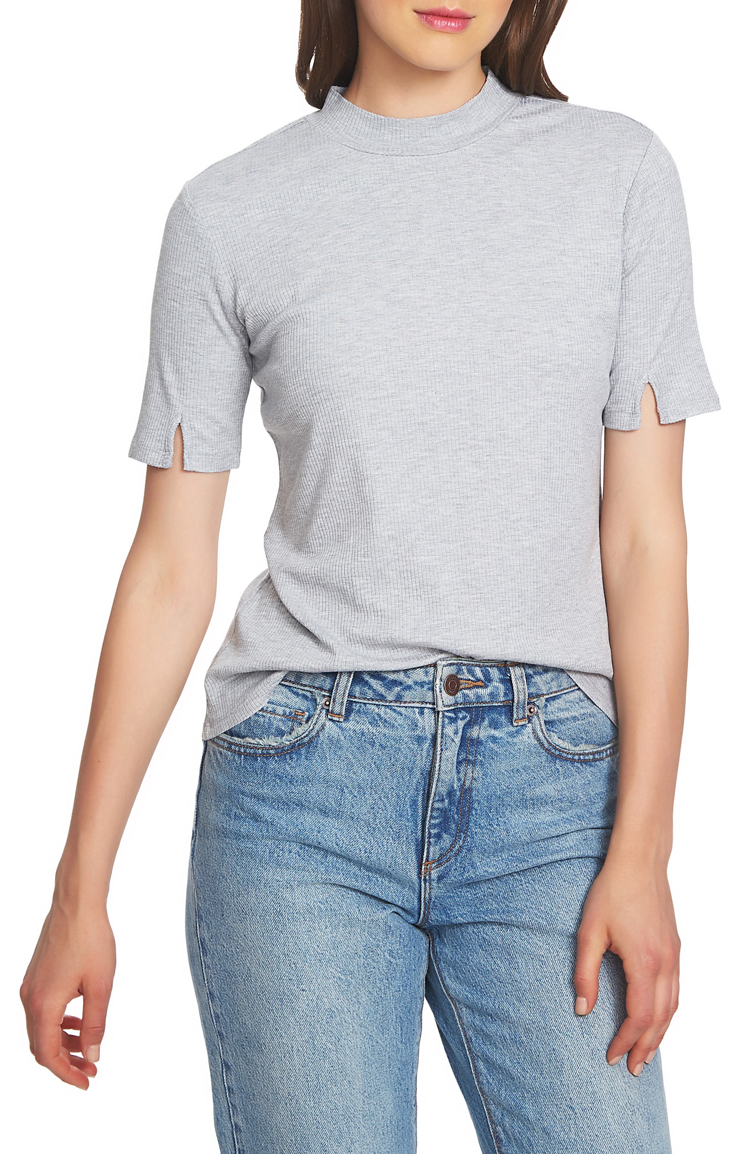 SLIT SLEEVE RIB KNIT TOP from Nordstrom