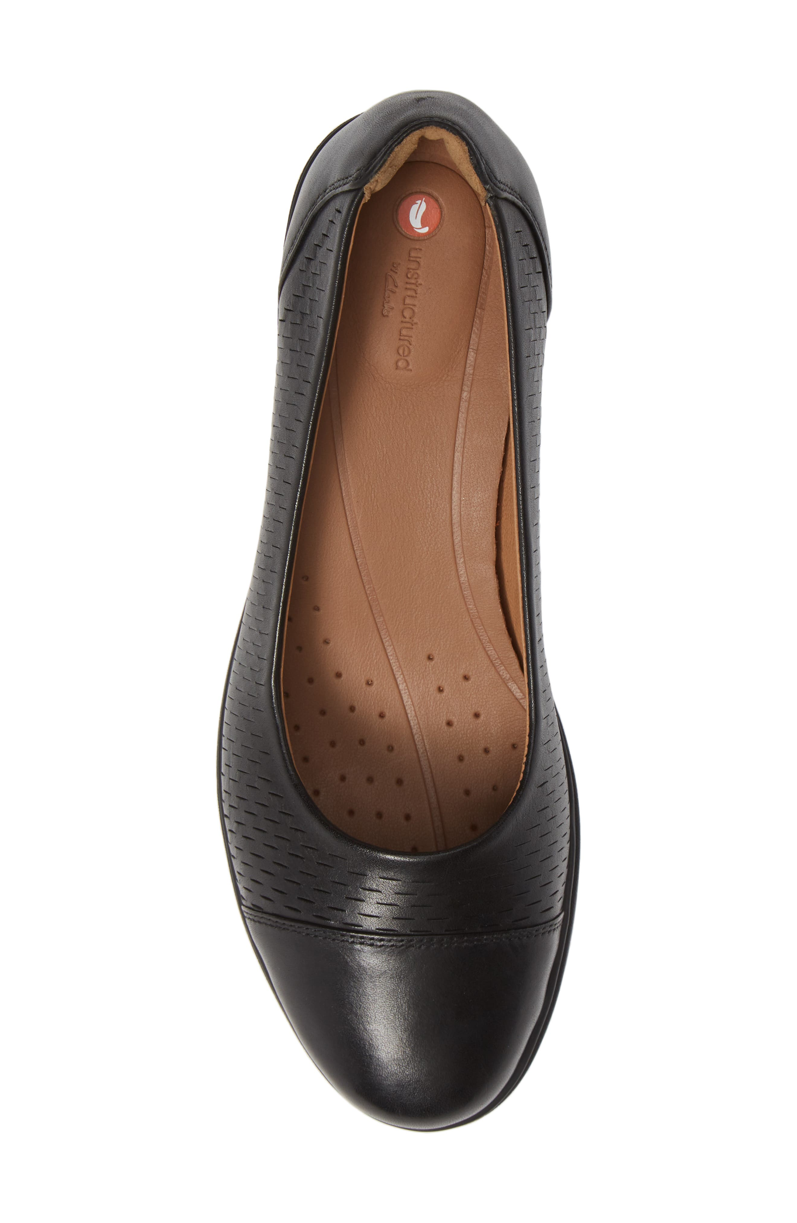 Un Tallara Dee Wedge Pump,                             Alternate thumbnail 3, color,                             Black Leather