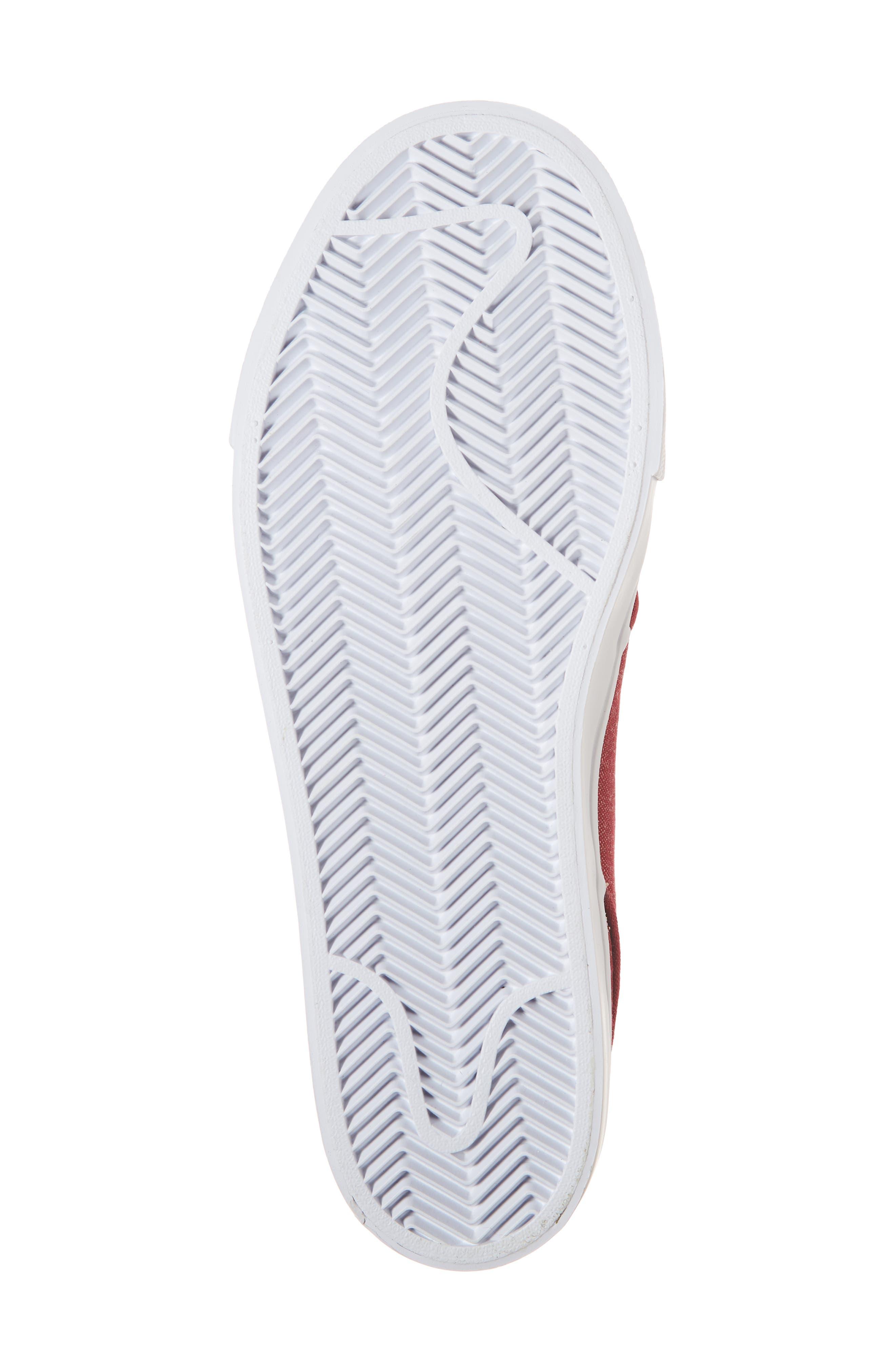 Zoom - Stefan Janoski SB Canvas Skate Shoe,                             Alternate thumbnail 6, color,                             Red Crush/ White