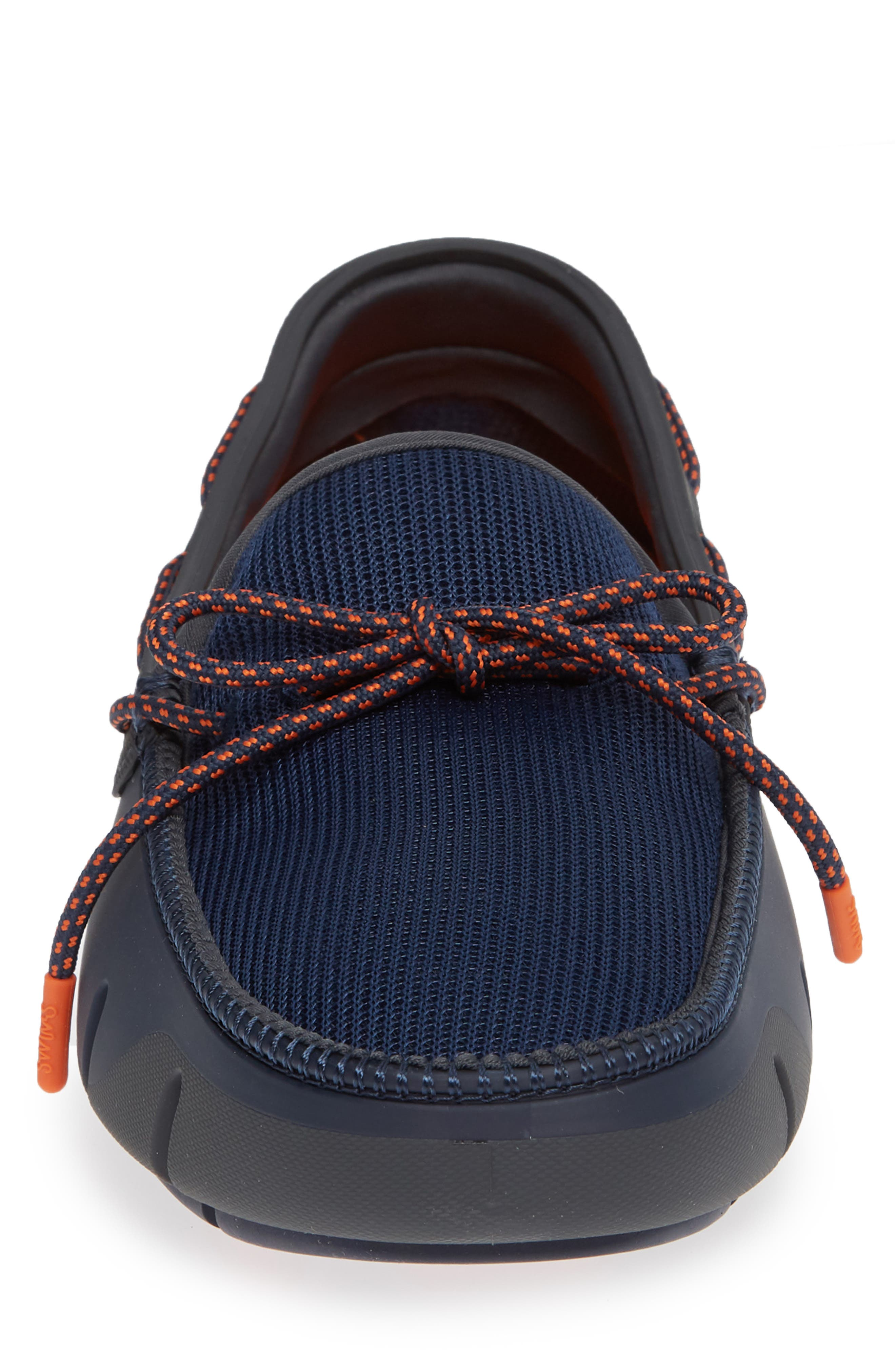 Stride Lace Loafer,                             Alternate thumbnail 4, color,                             Navy/ Dark Gray