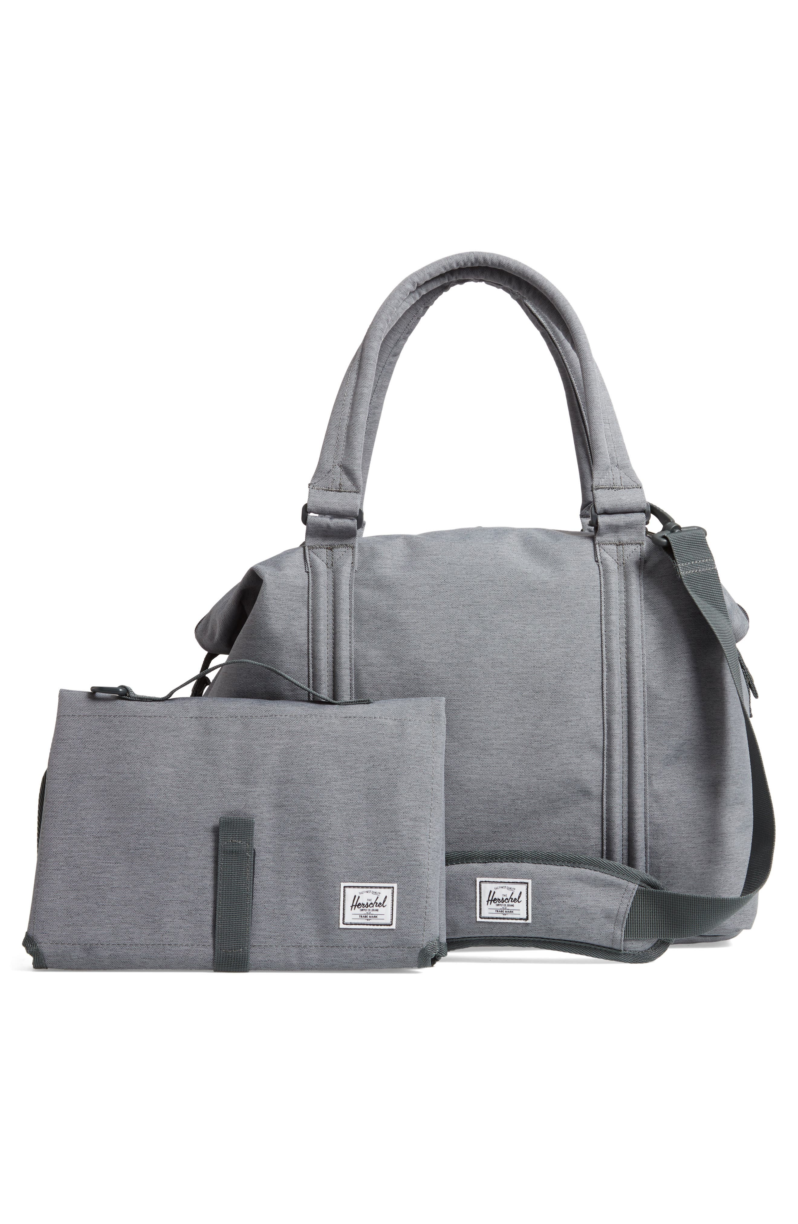 Strand Sprout Diaper Bag,                             Alternate thumbnail 3, color,                             Mid Grey Crosshatch